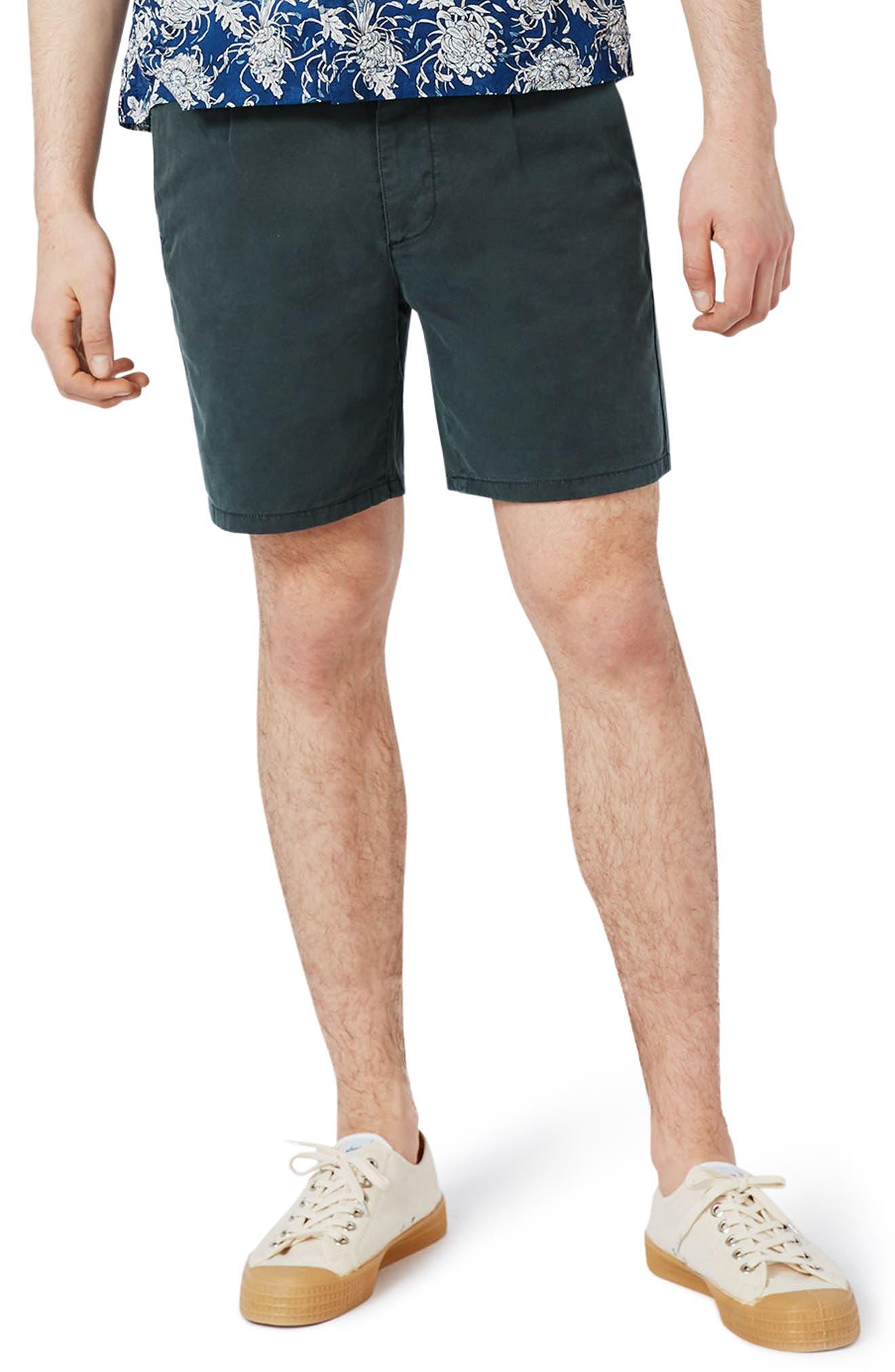 Topman Slim Fit Pleated Shorts
