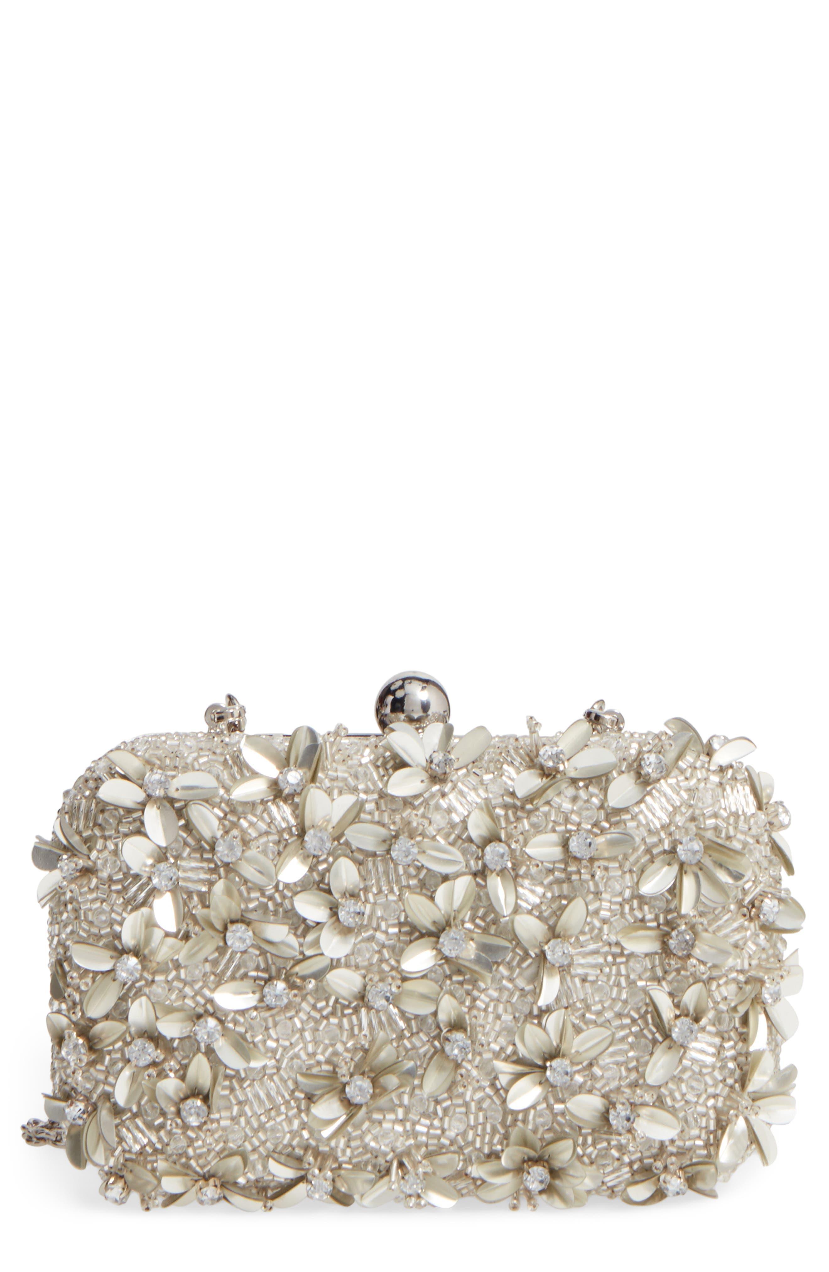 Main Image - Glint Embellished Petal Minaudière