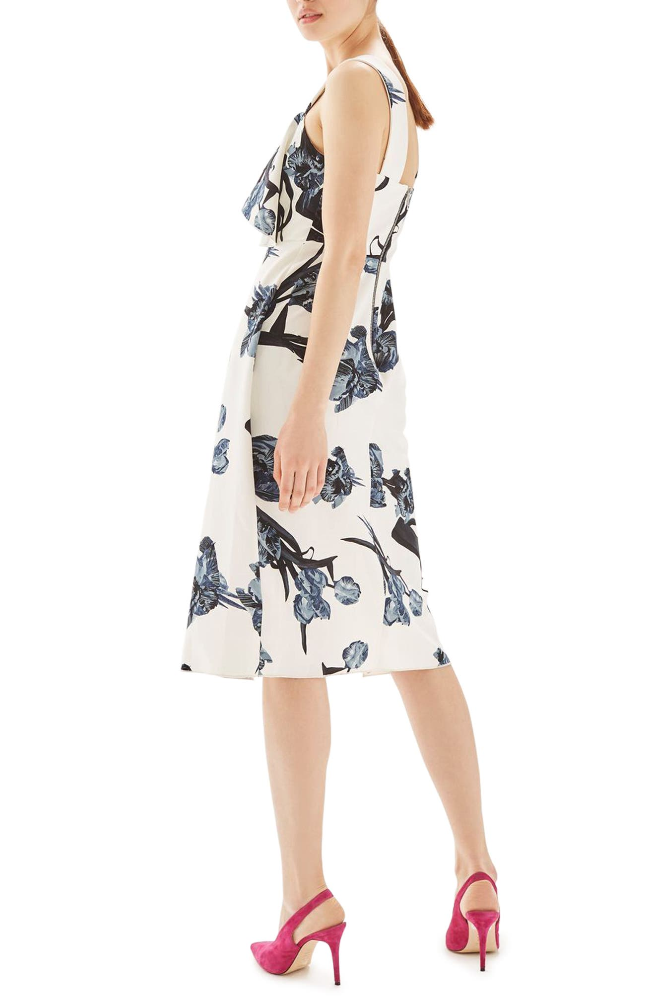 Alternate Image 3  - Topshop Floral Ruffle Midi Dress