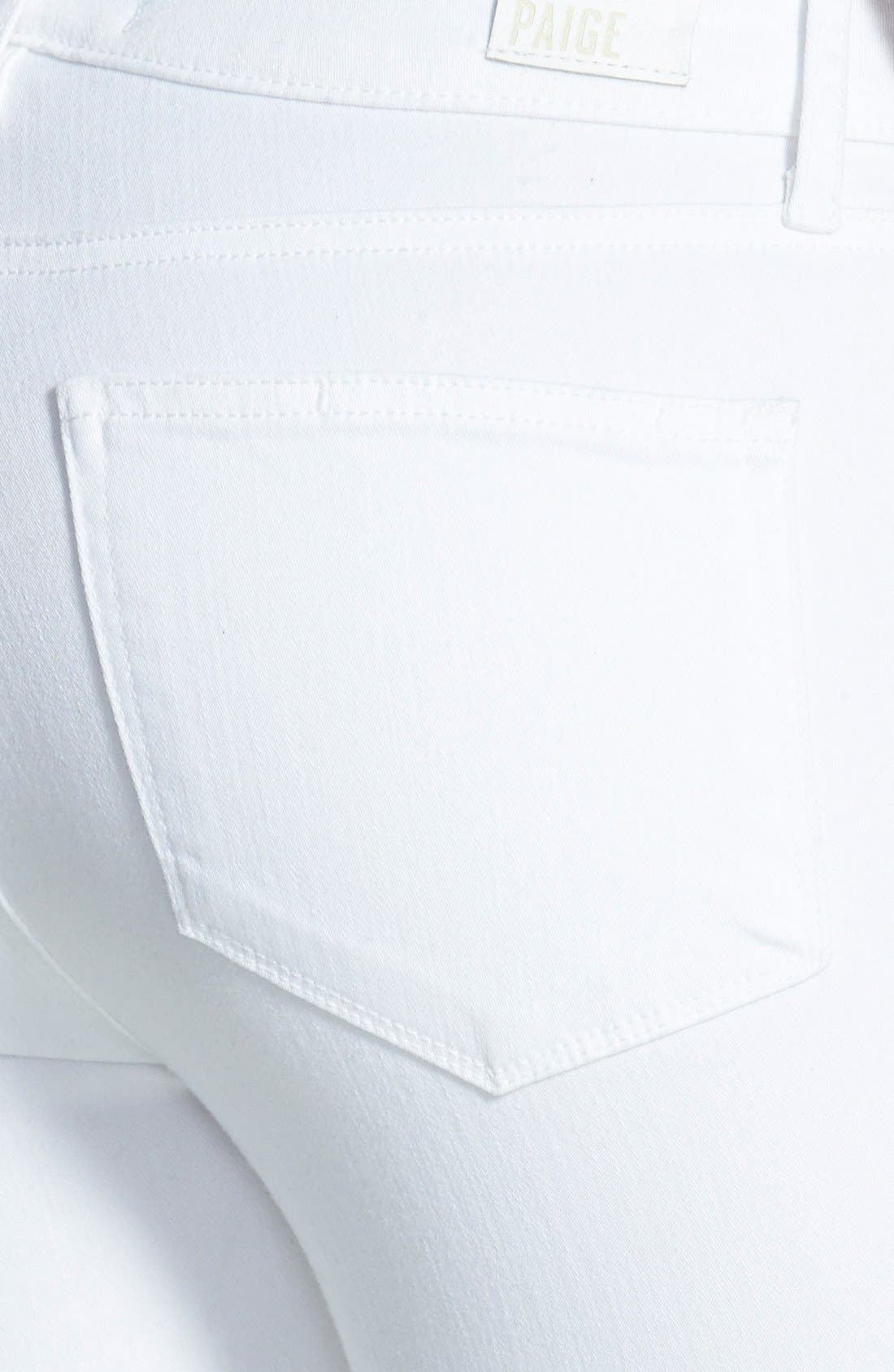 Alternate Image 3  - Paige Denim Hoxton High Waist Skinny Jeans (Ultra White)