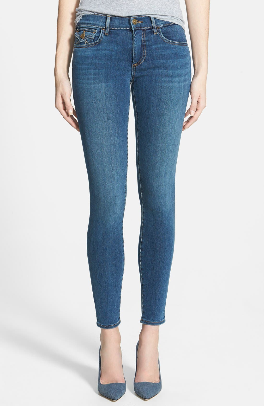 Alternate Image 1 Selected - True Religion Brand Jeans 'Halle' Mid Rise Super Skinny Jeans (Love No Less)