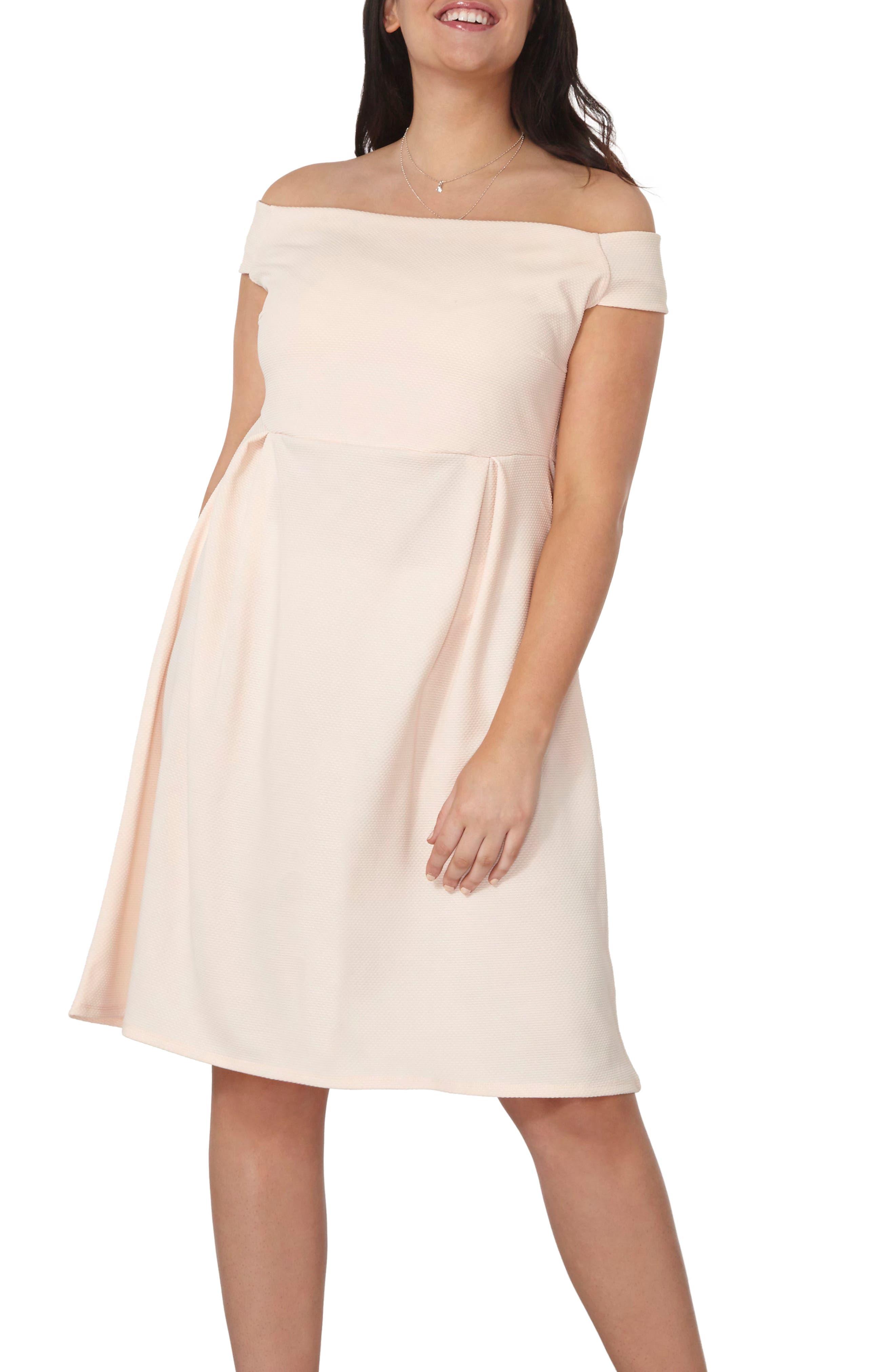 Dorothy Perkins Bardot Fit & Flare Dress (Plus Size)