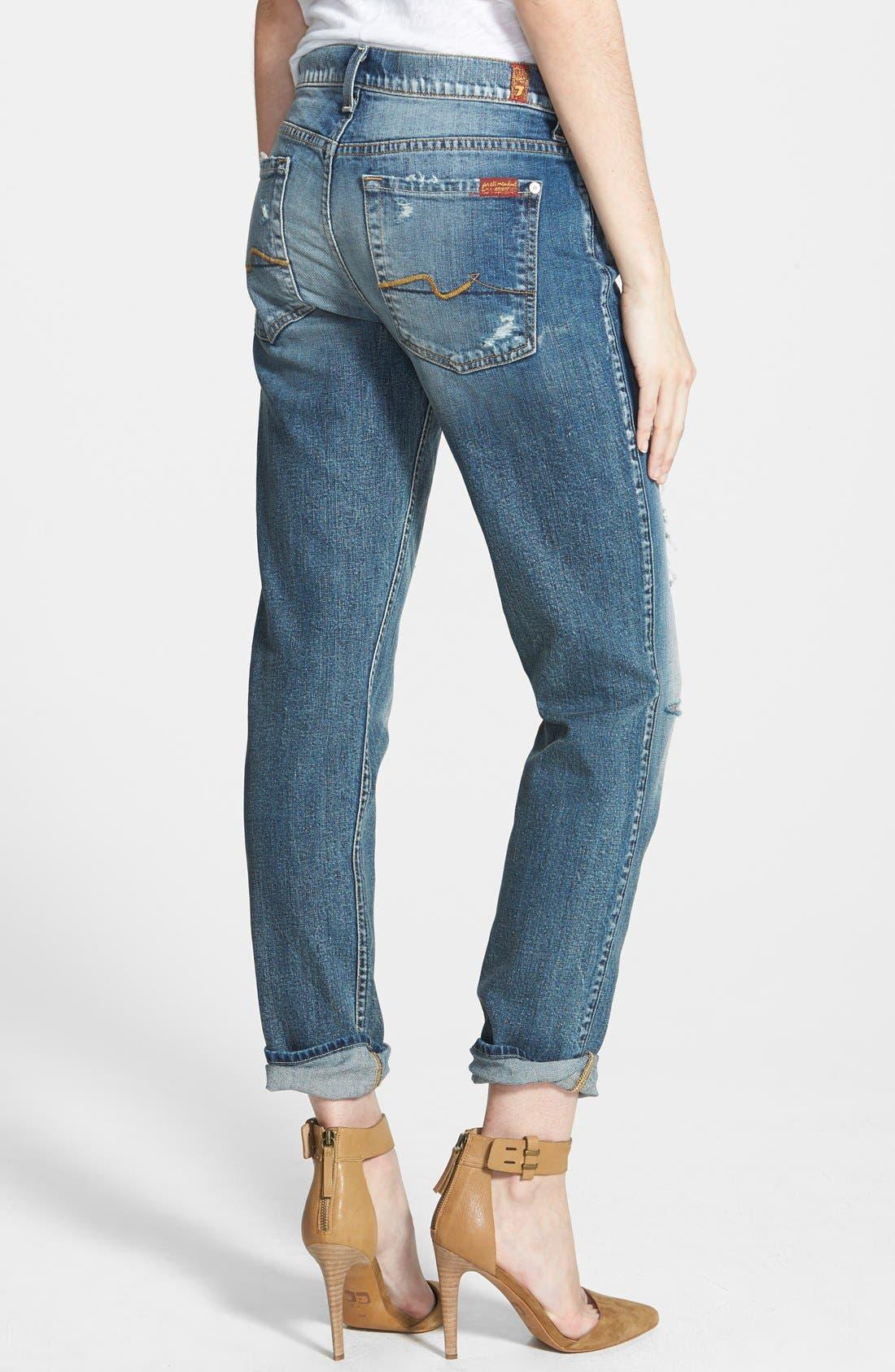 Alternate Image 2  - 7 For All Mankind® 'Josefina' Boyfriend Jeans (Red Cast Heritage Blue)