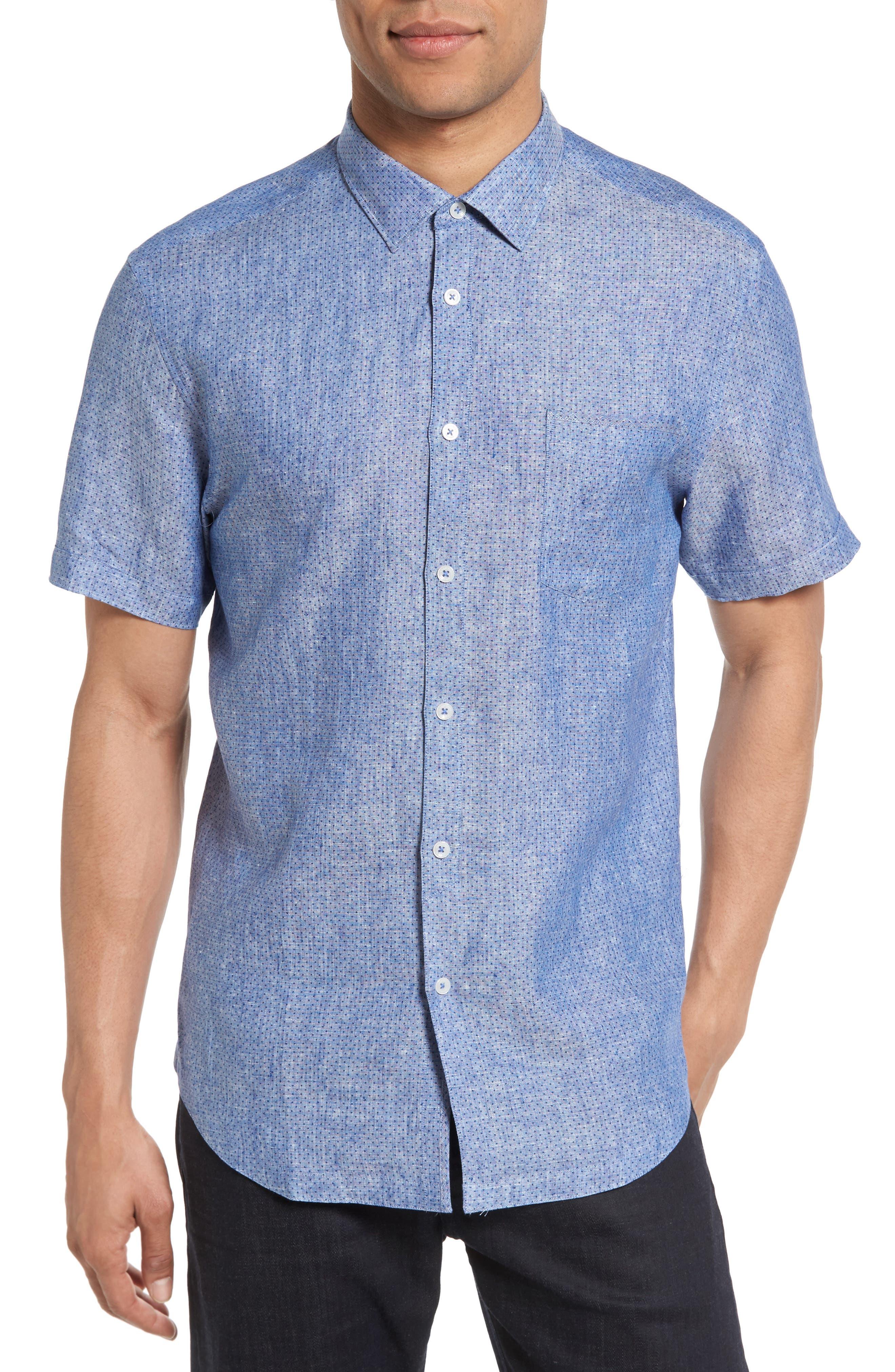 Good Man Brand On Point Trim Fit Linen Sport Shirt