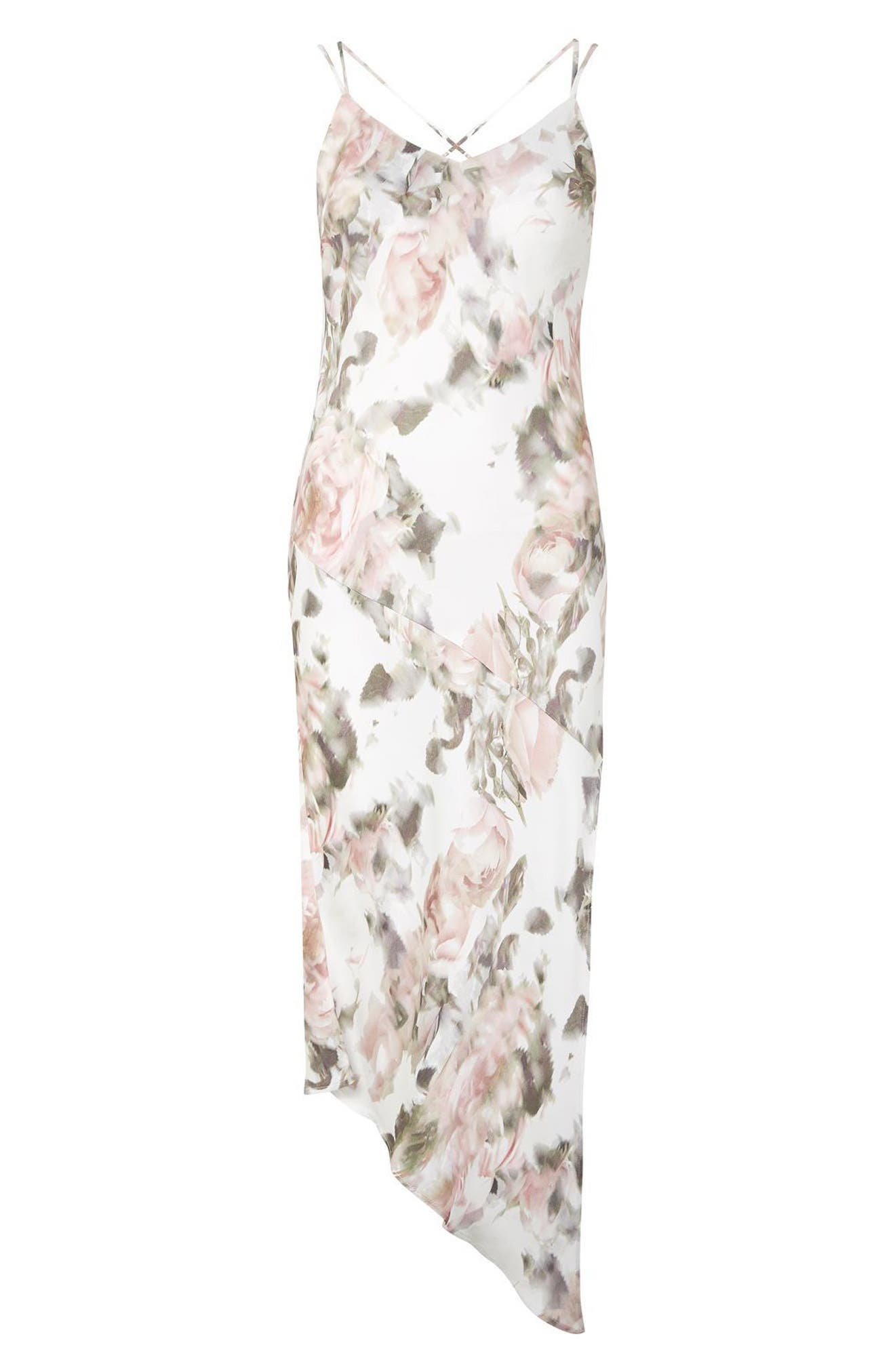 Alternate Image 5  - Topshop Bride Asymmetrical Slipdress