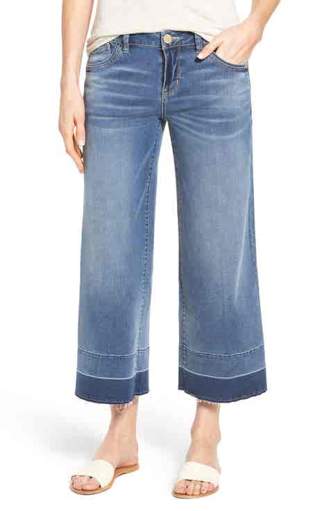 Wit   Wisdom Wide Leg Crop Jeans (Regular   Petite) (Nordstrom Exclusive)