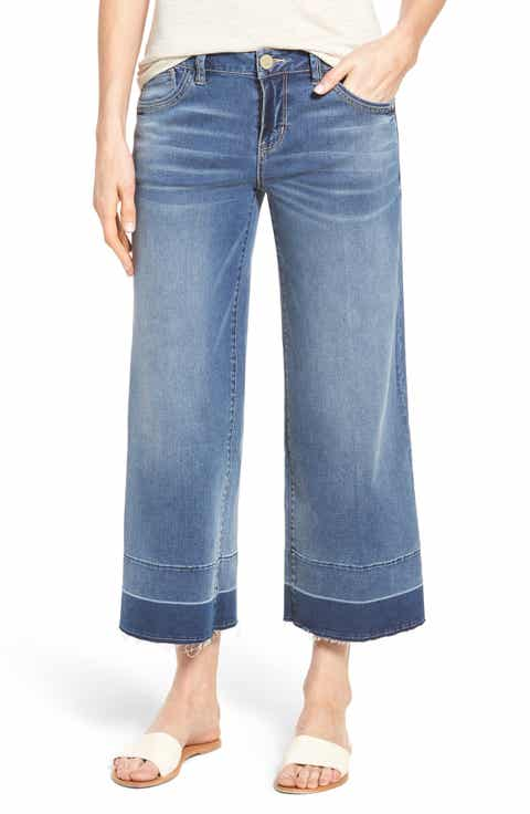 Wide Leg Cropped Jeans for Women | Nordstrom
