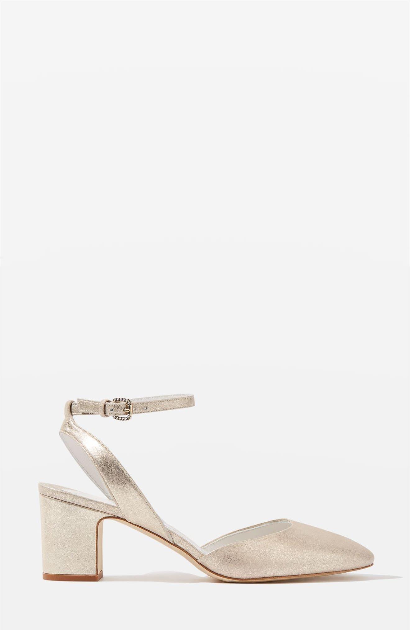 Topshop Bride Beryl Ankle Strap Pumps (Women)