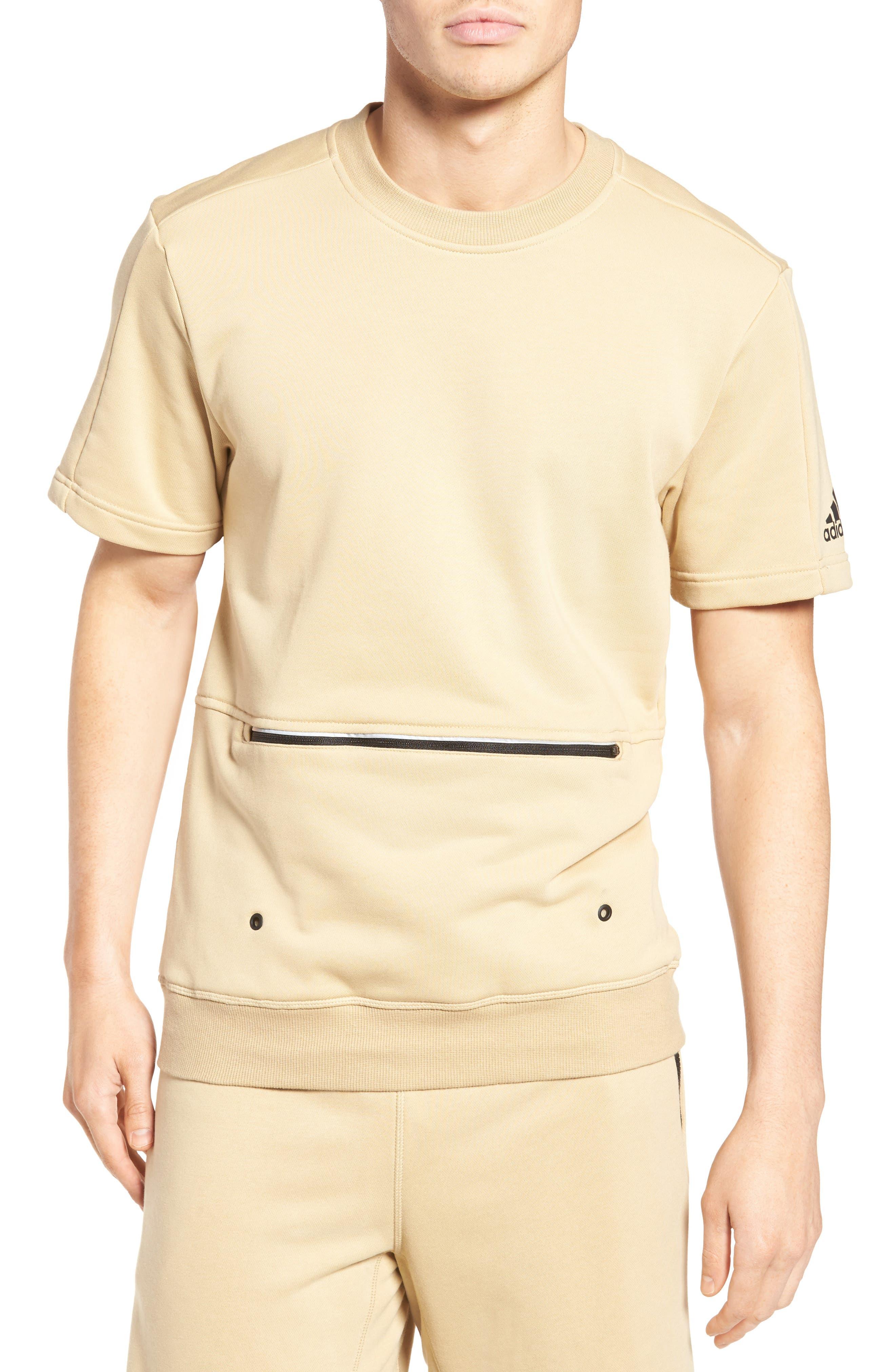 adidas Sport ID French Terry Short Sleeve Sweatshirt