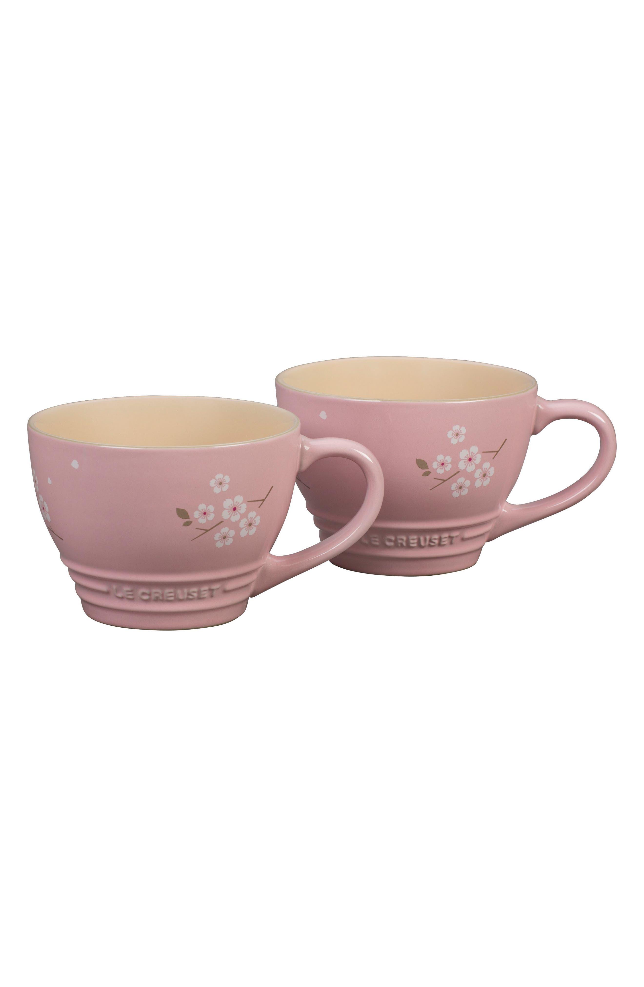 Le Creuset Sakura Set of 2 Stoneware Bistro Mugs