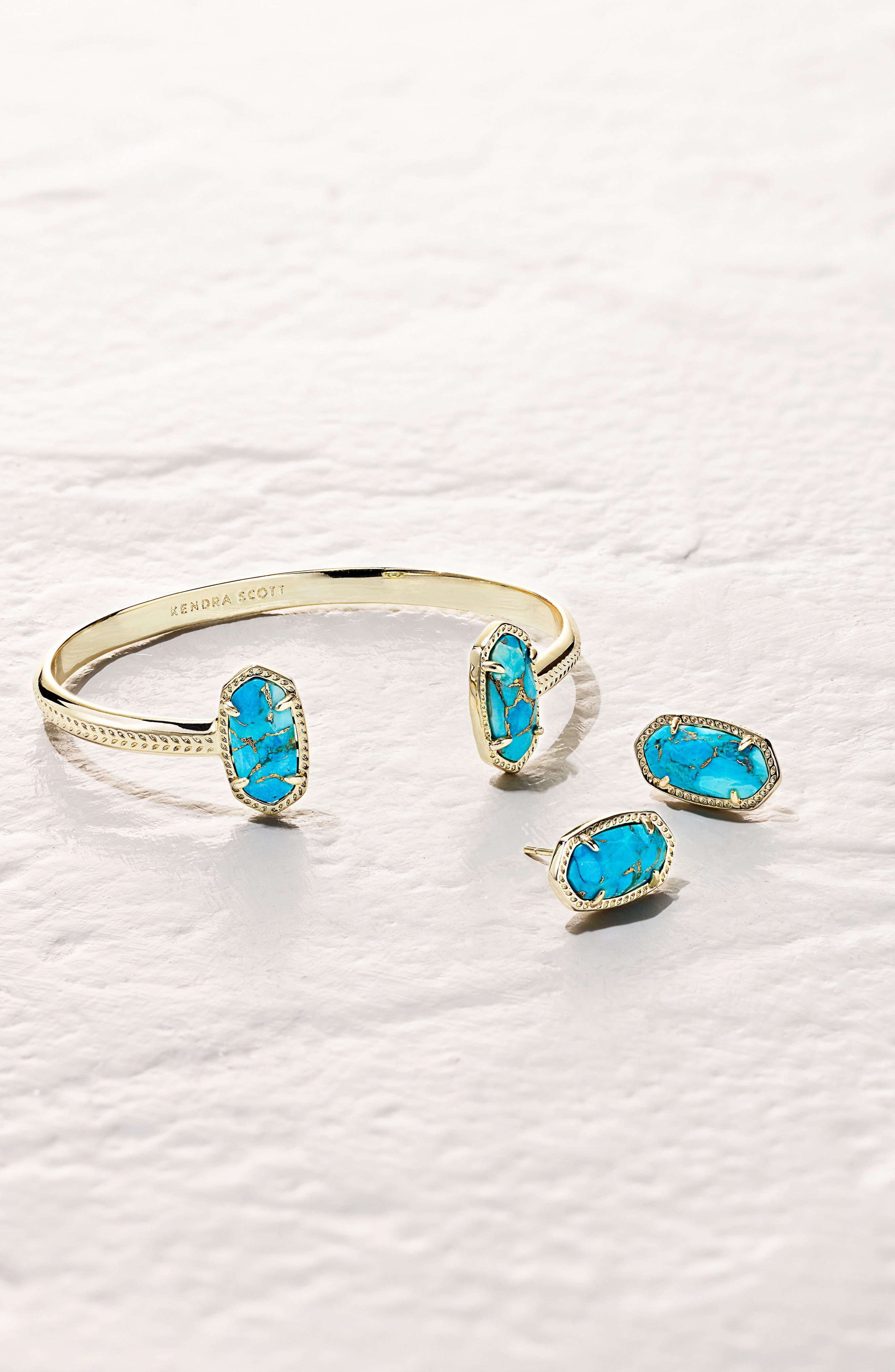 Alternate Image 2  - Kendra Scott Ellie Oval Stone Stud Earrings