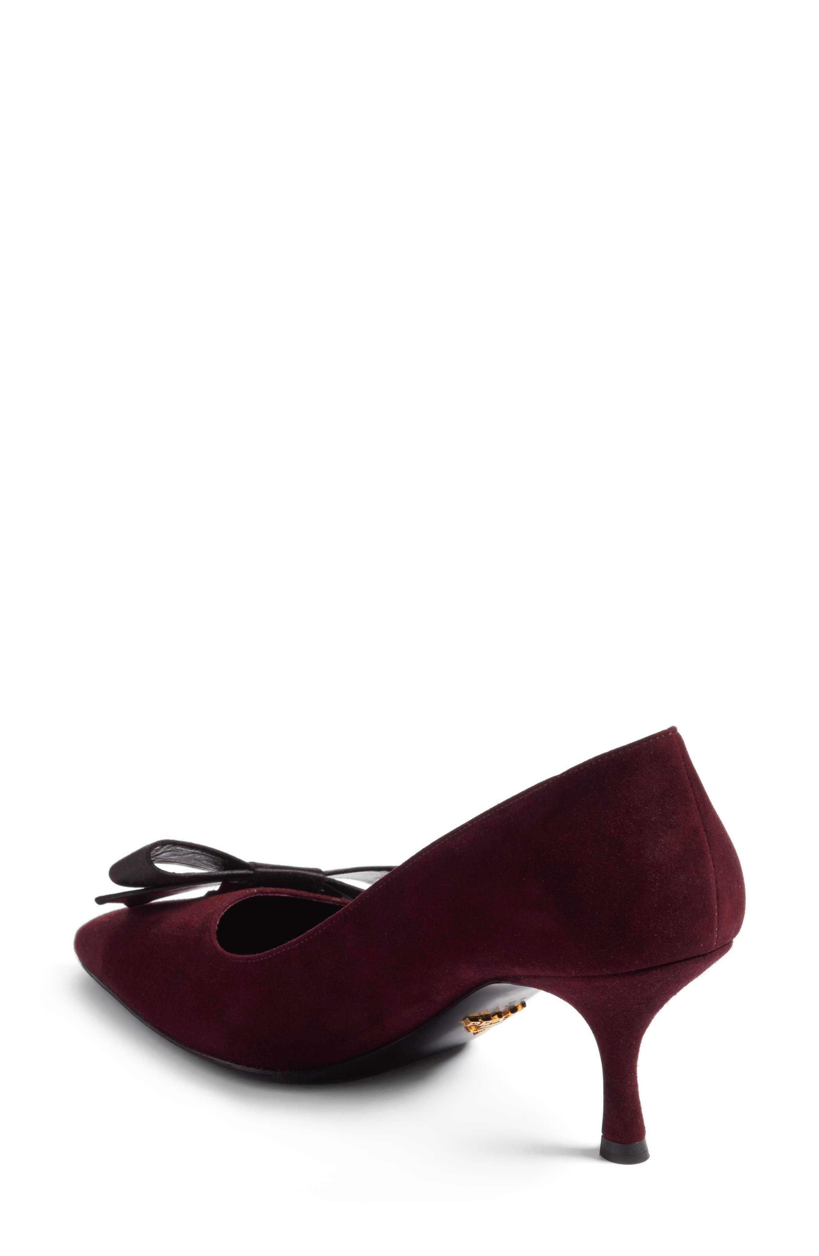 Alternate Image 2  - Prada Bow Pointy Toe Pump (Women)
