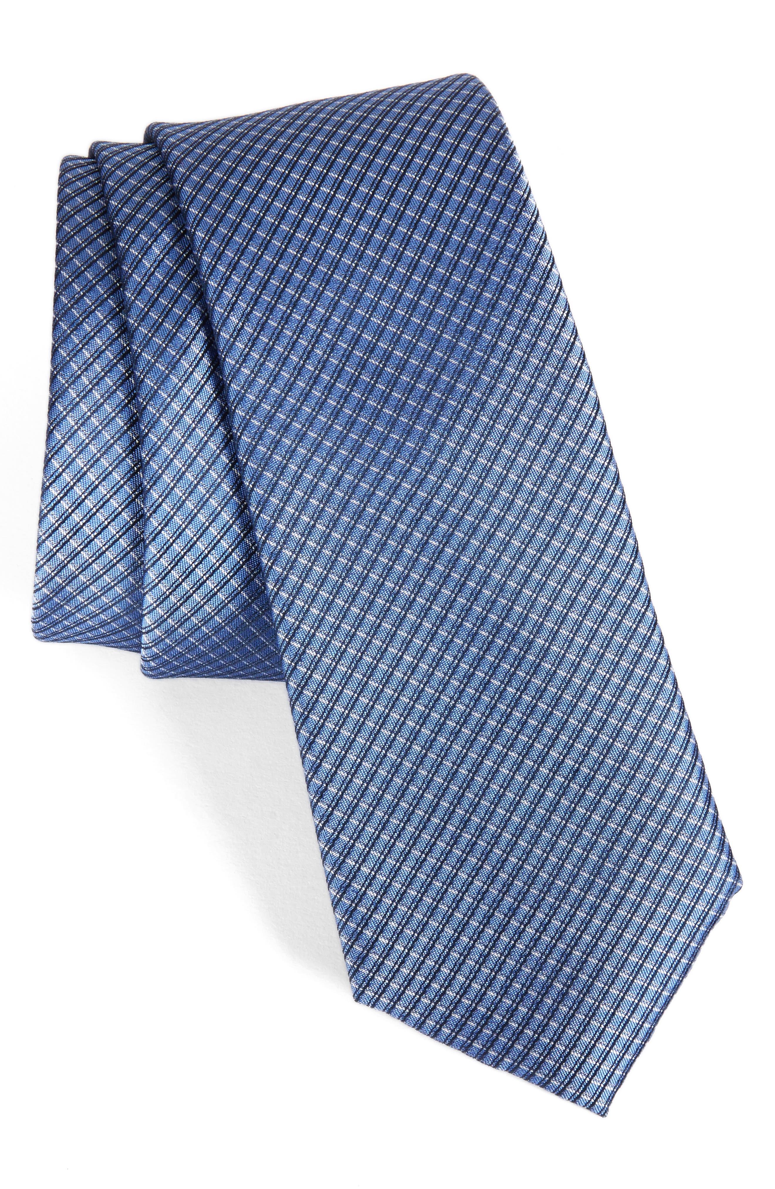 Calibrate Accent Grid Silk Tie