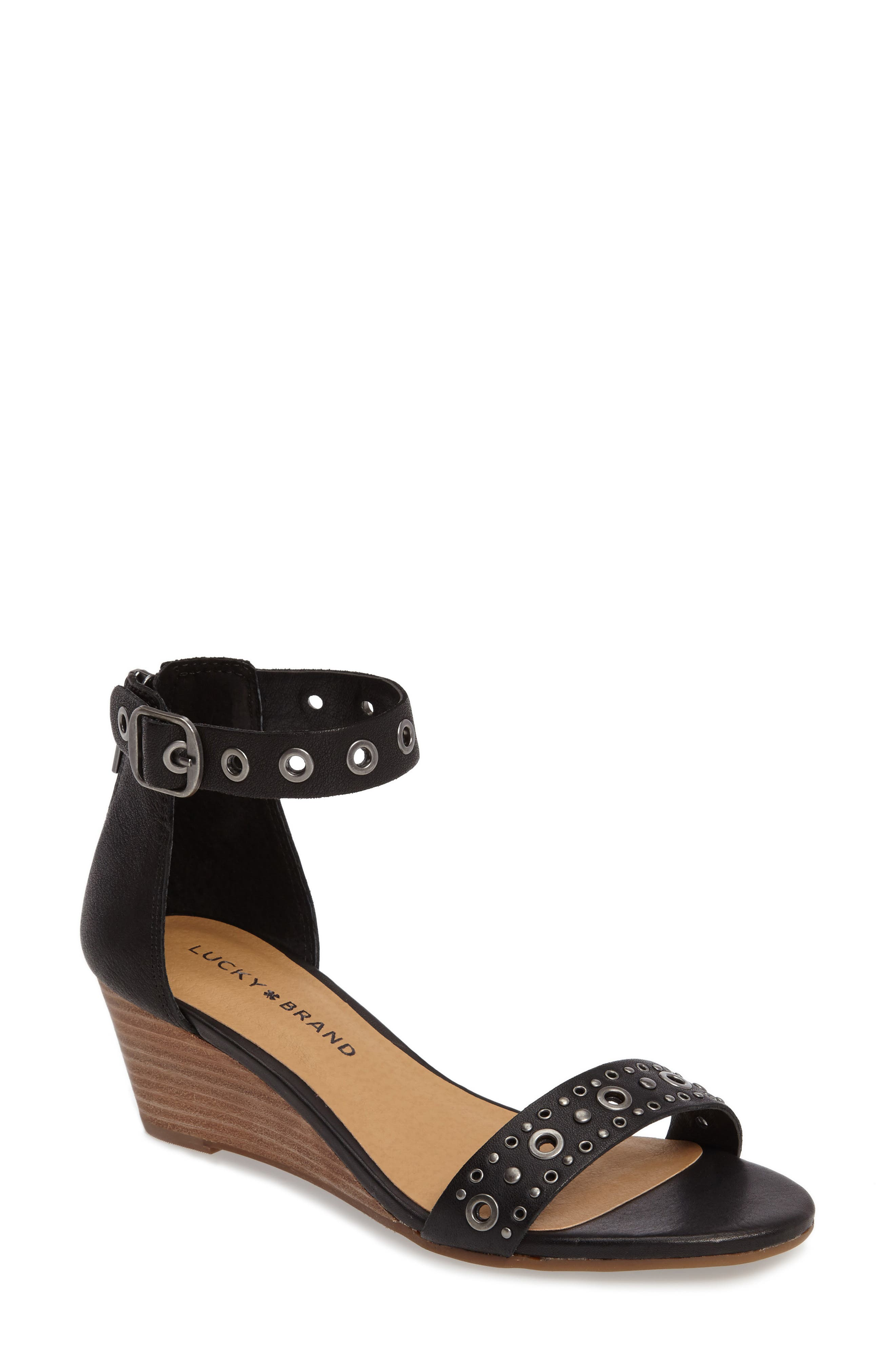 Lucky Brand Jorey Ankle Strap Wedge Sandal (Women)