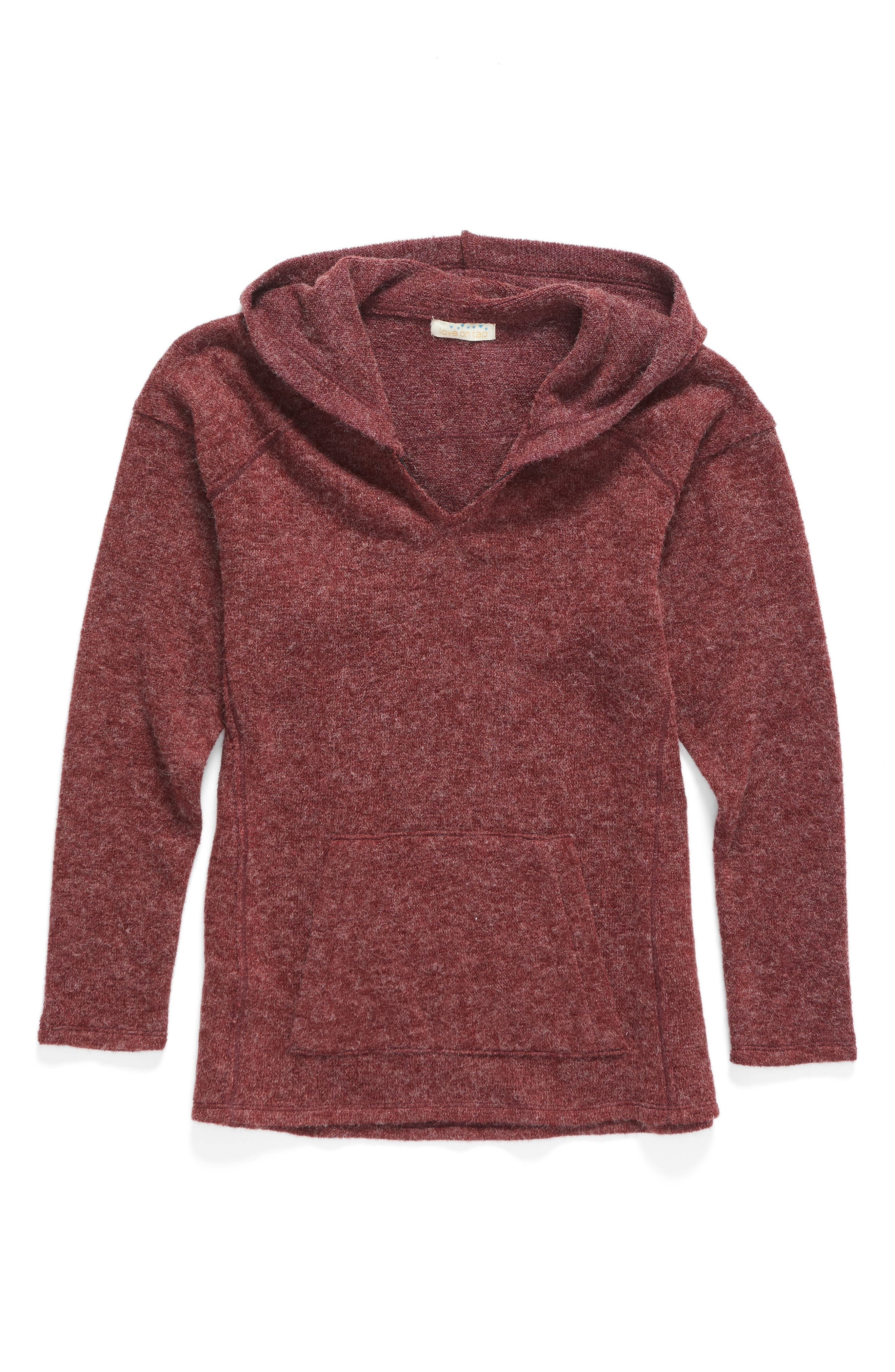 Love On Tap Hooded Sweater (Big Girls)