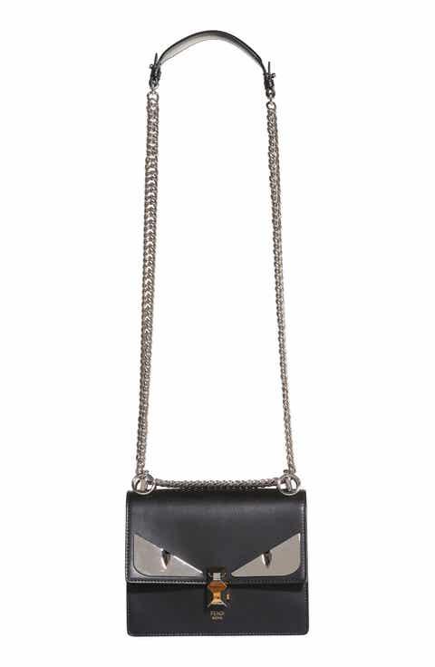 Fendi Kan I Monster Leather Shoulder Bag