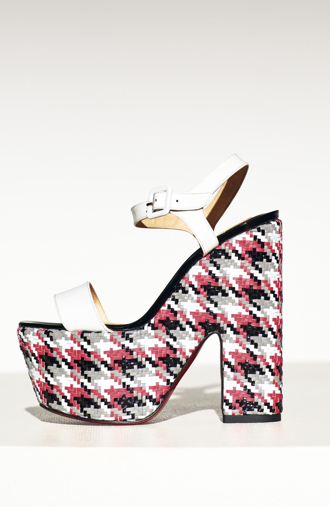 Alternate Image 4  - Christian Louboutin 'Bella' Plaid Platform Sandal