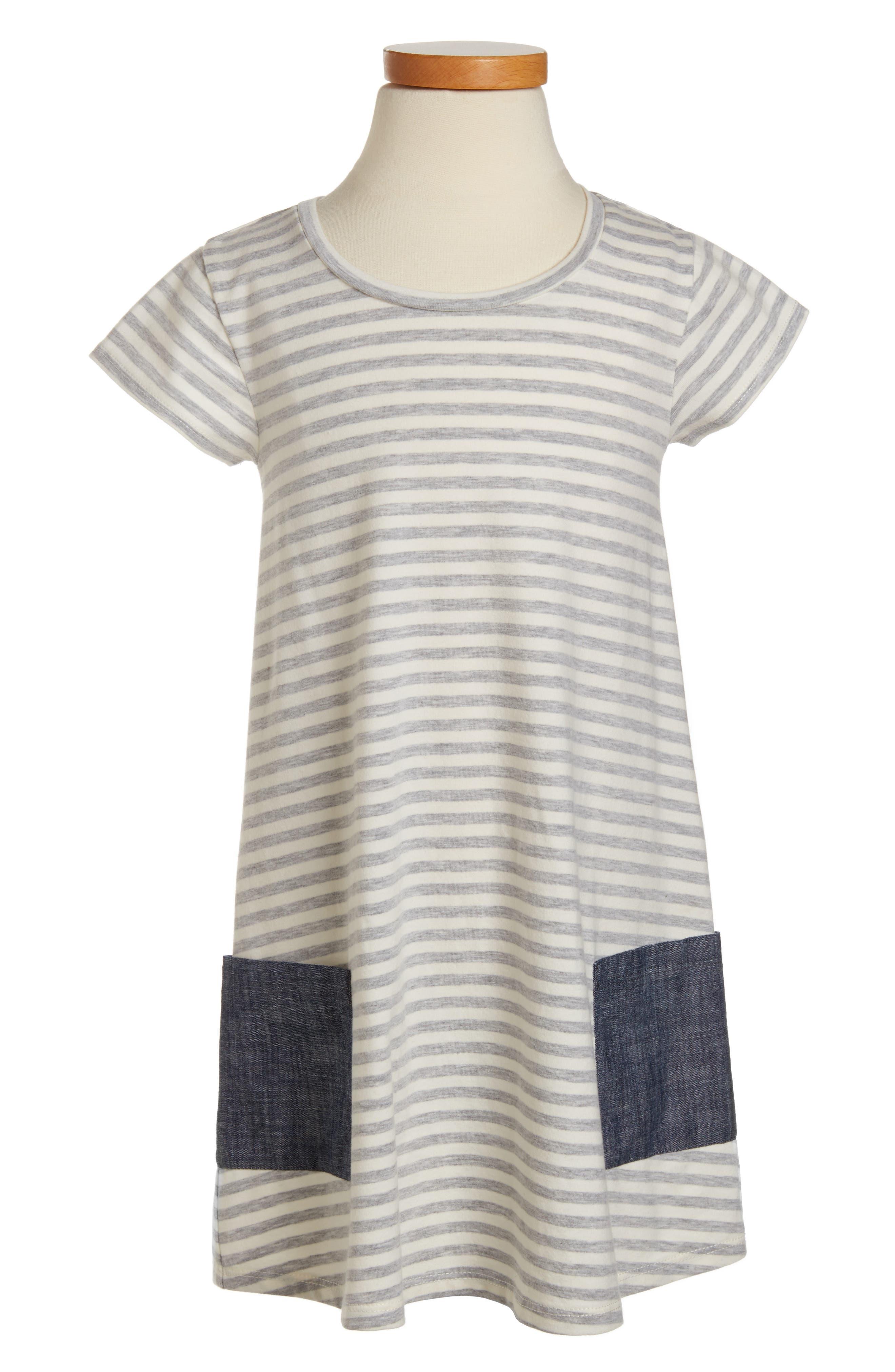 Tucker + Tate Contrast Pocket T-Shirt Dress (Toddler Girls, Little Girls & Big Girls)