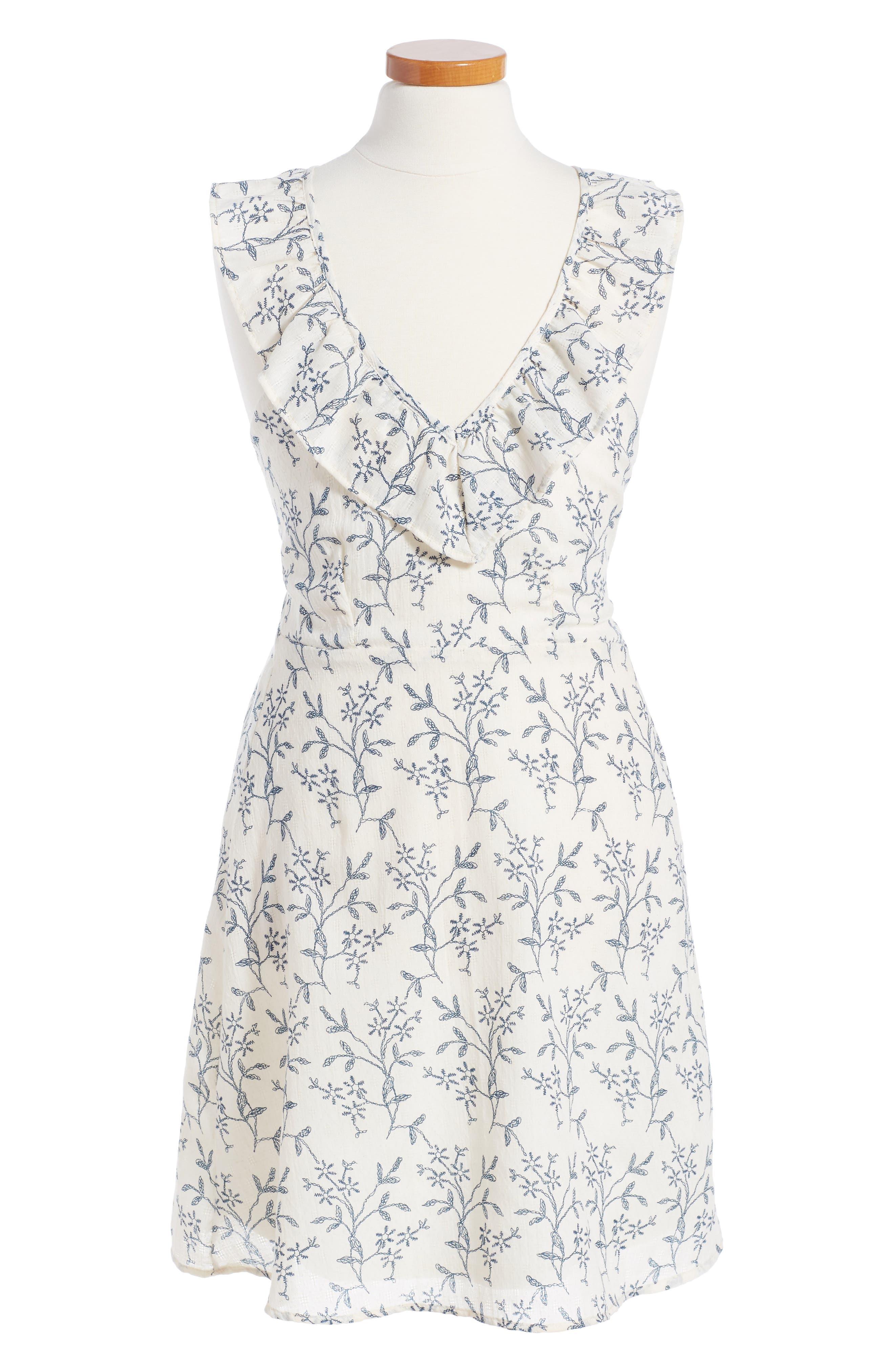 Kiddo Floral Ruffle Dress (Big Girls)