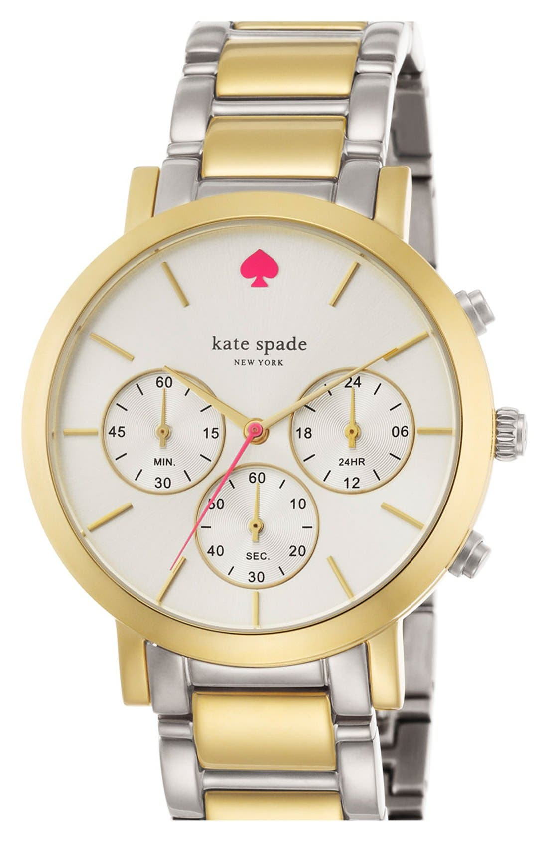 Alternate Image 4  - kate spade new york 'gramercy grand' chronograph bracelet watch, 38mm