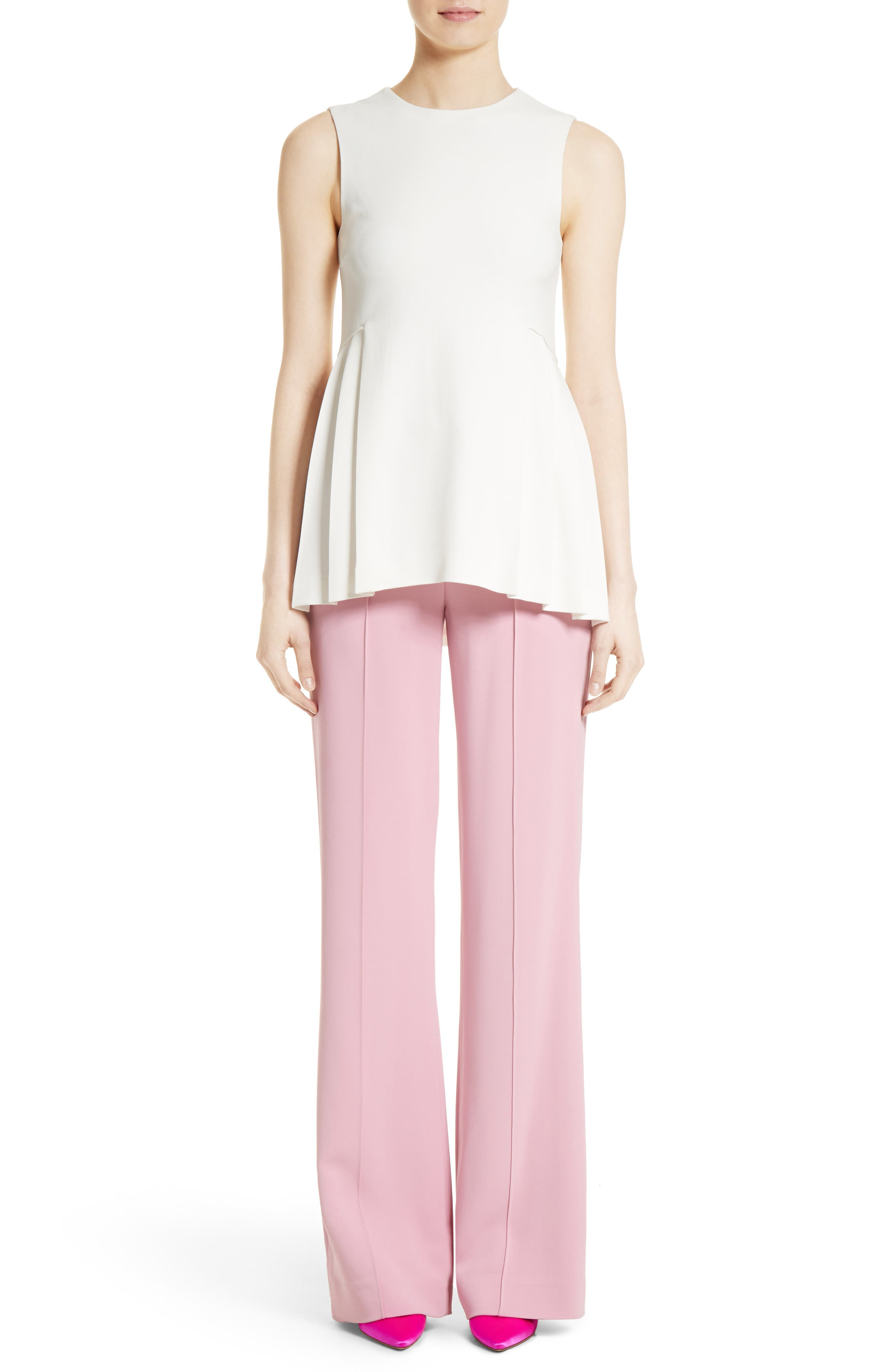 Alternate Image 7  - Adam Lippes Stretch Cady Wide Leg Trousers