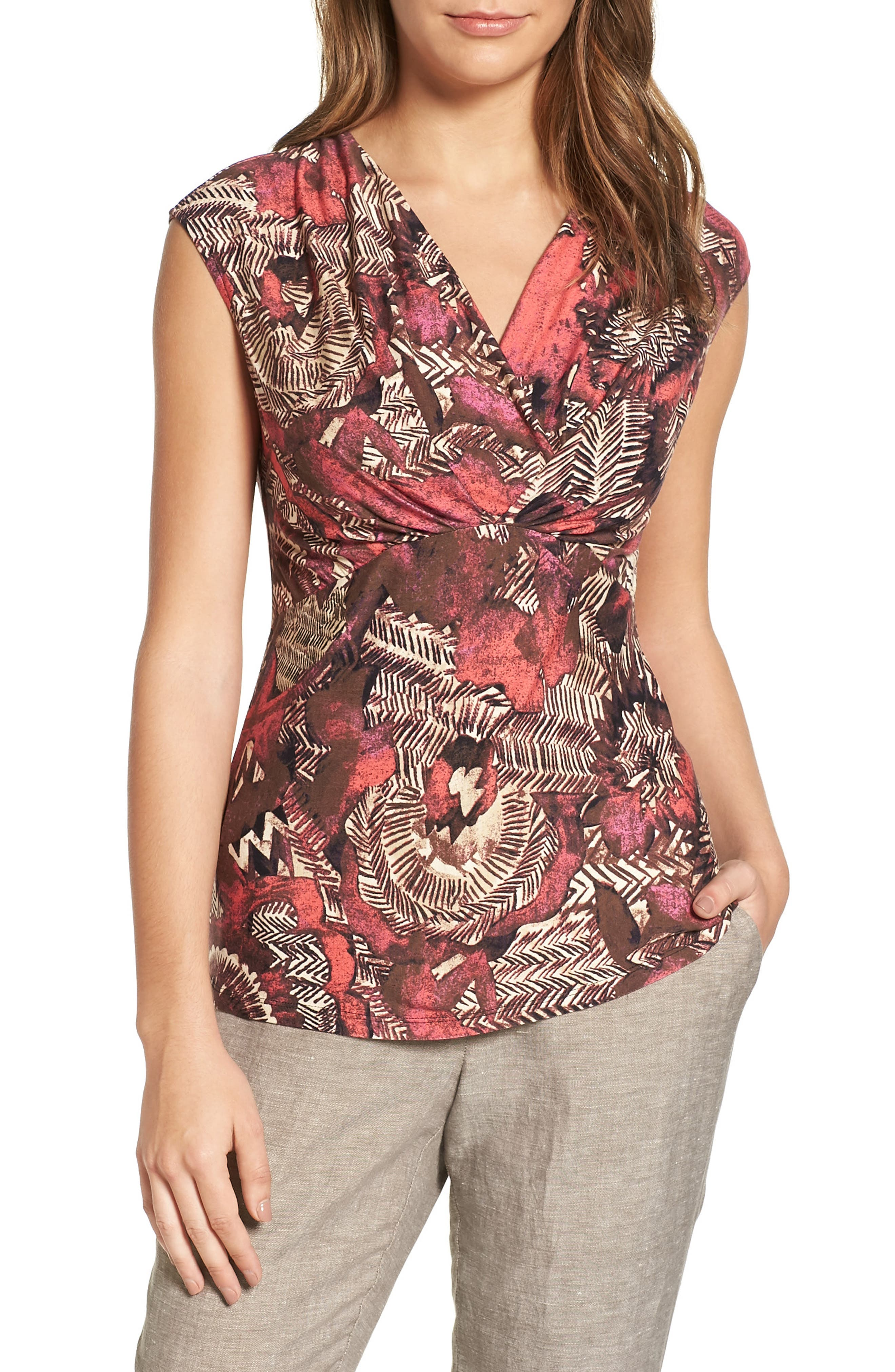 NIC+ZOE Etched Floral Top