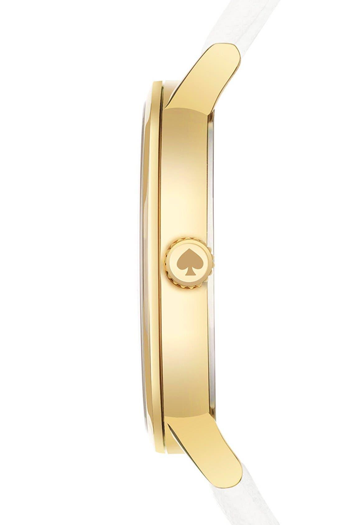 Alternate Image 3  - kate spade new york 'metro - somewhere' leather strap watch, 34mm