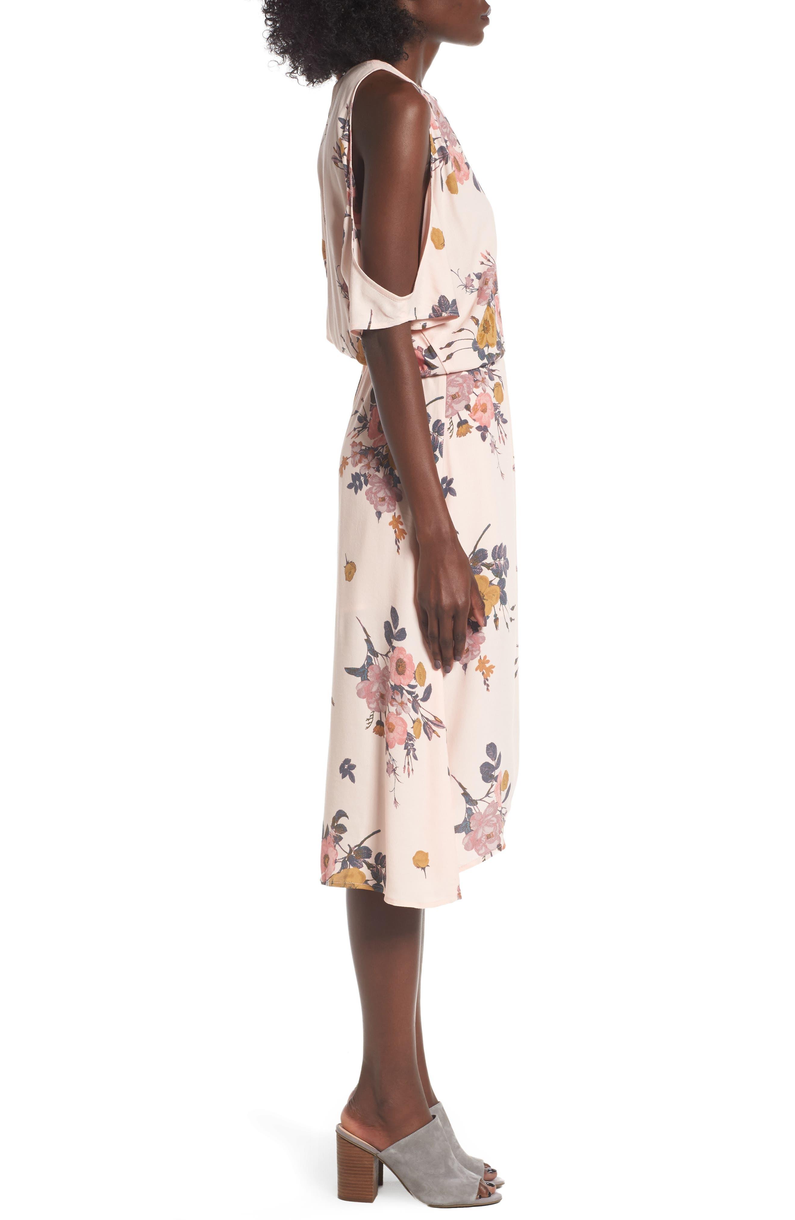 Alternate Image 3  - Leith Cold Shoulder Midi Dress