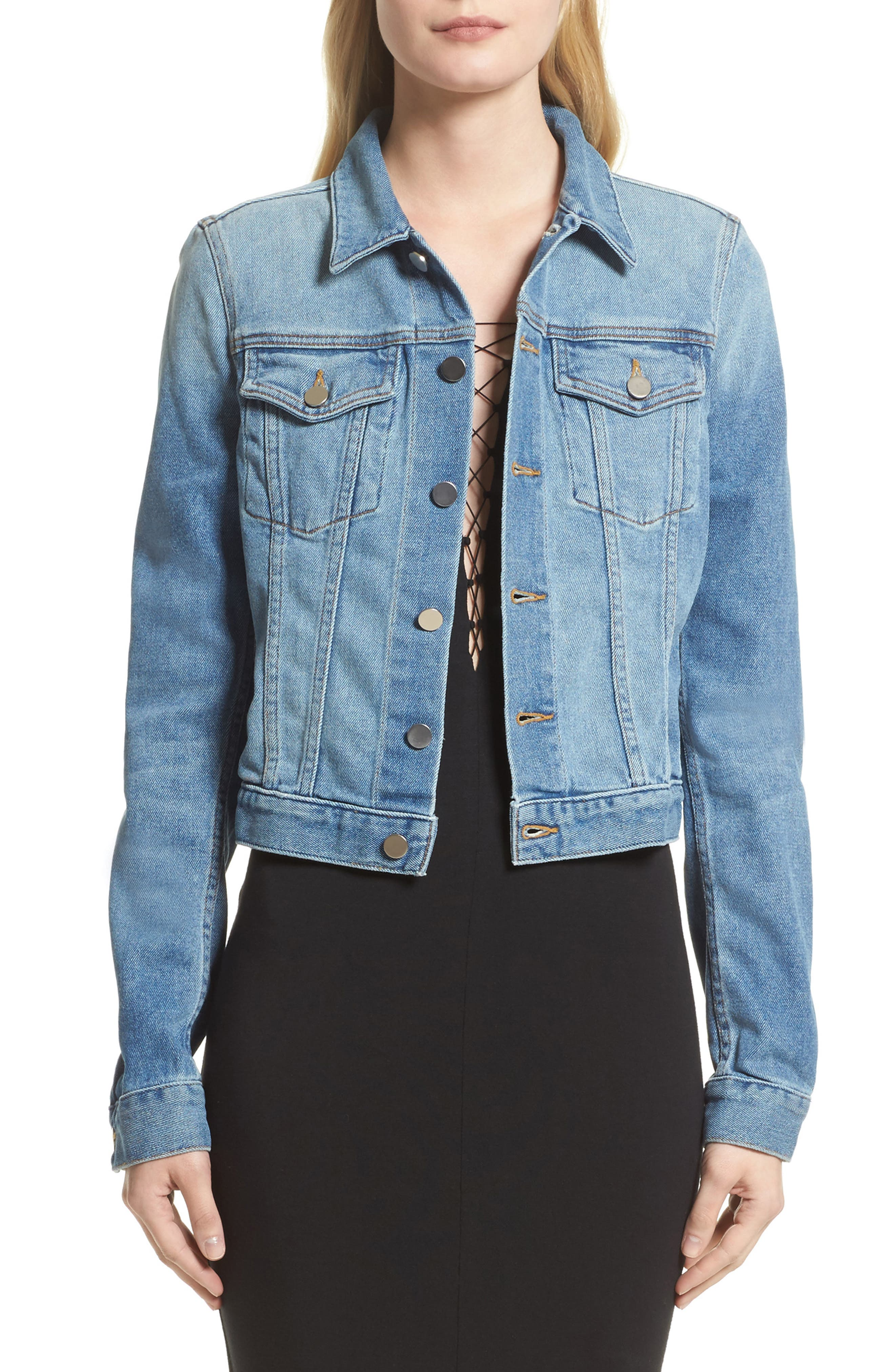Main Image - T by Alexander Wang Denim Jacket (Nordstrom Exclusive)