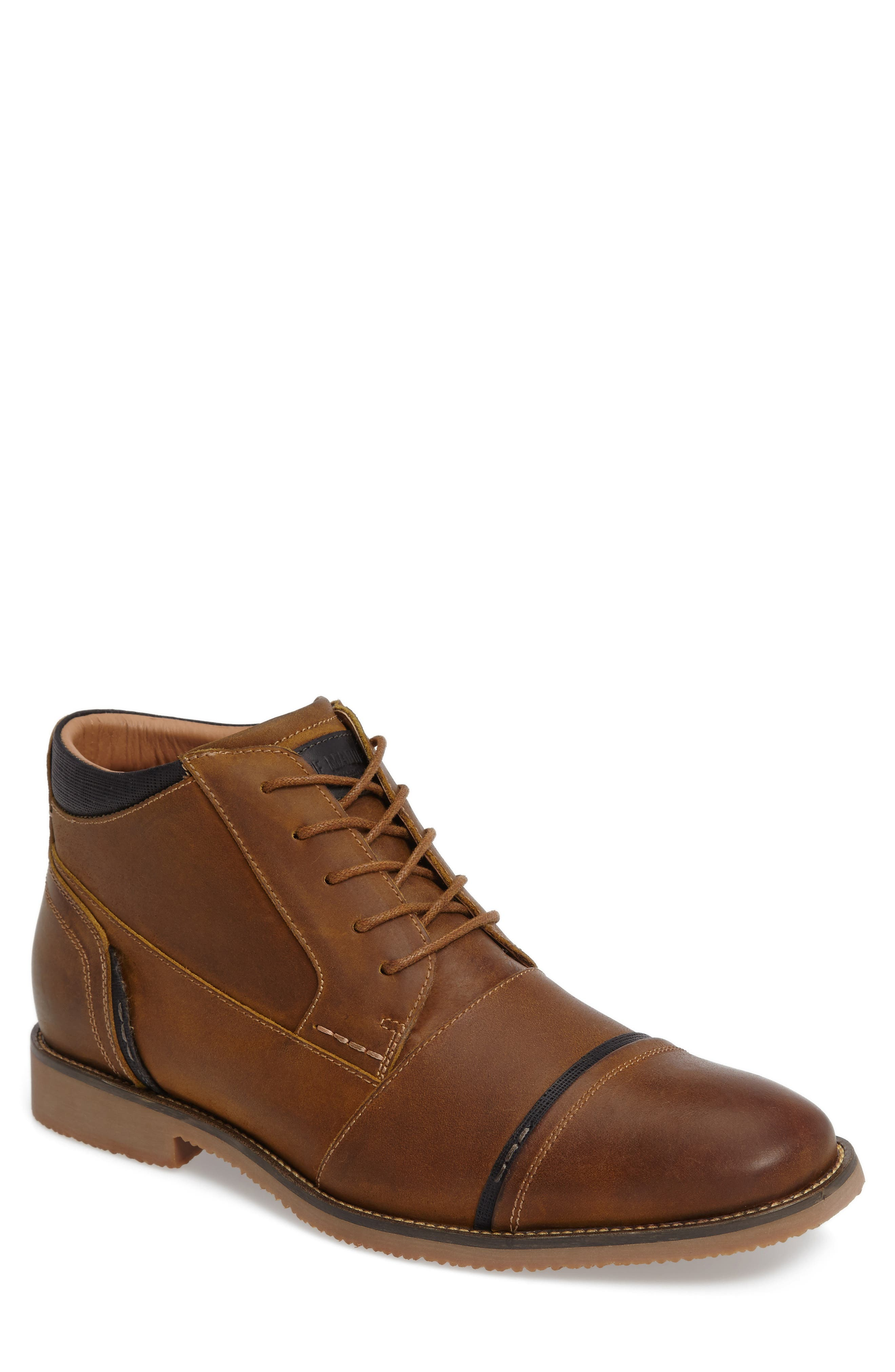 Steve Madden Leeman Cap Toe Boot (Men)