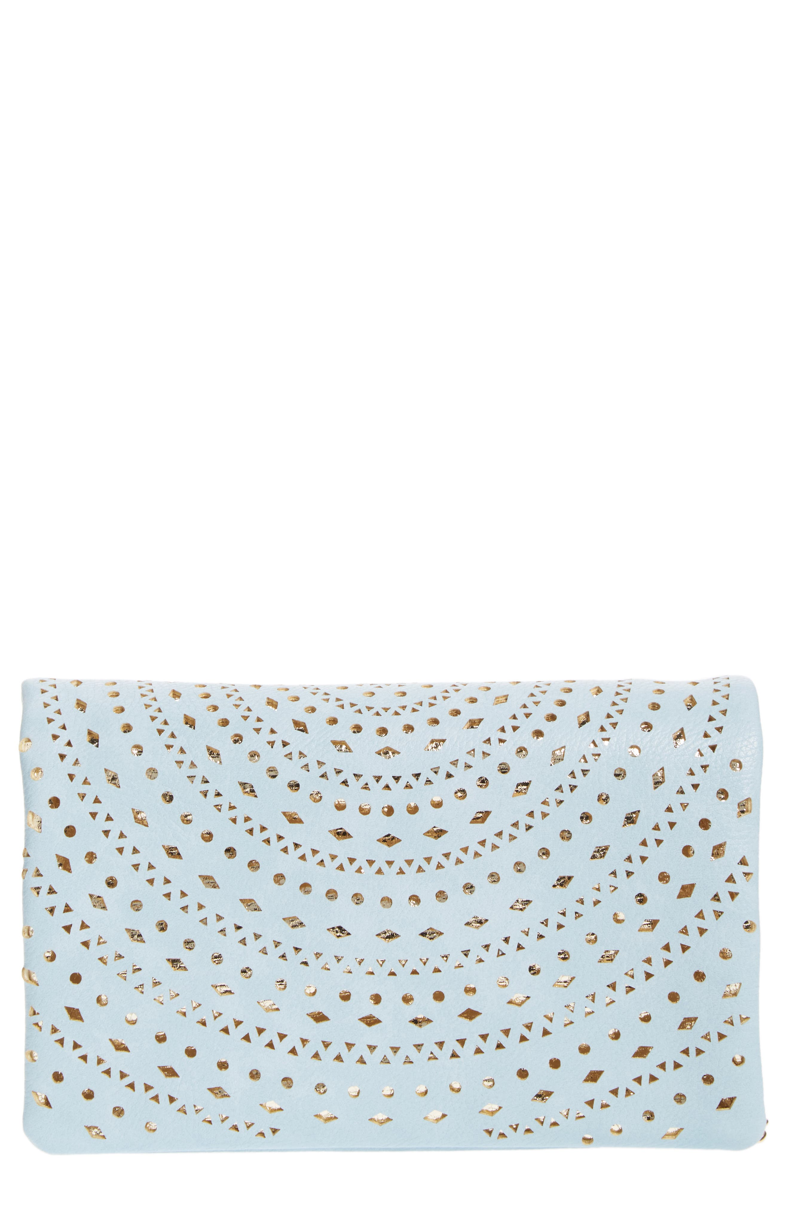 Street Level Perforated Faux Leather Crossbody Bag