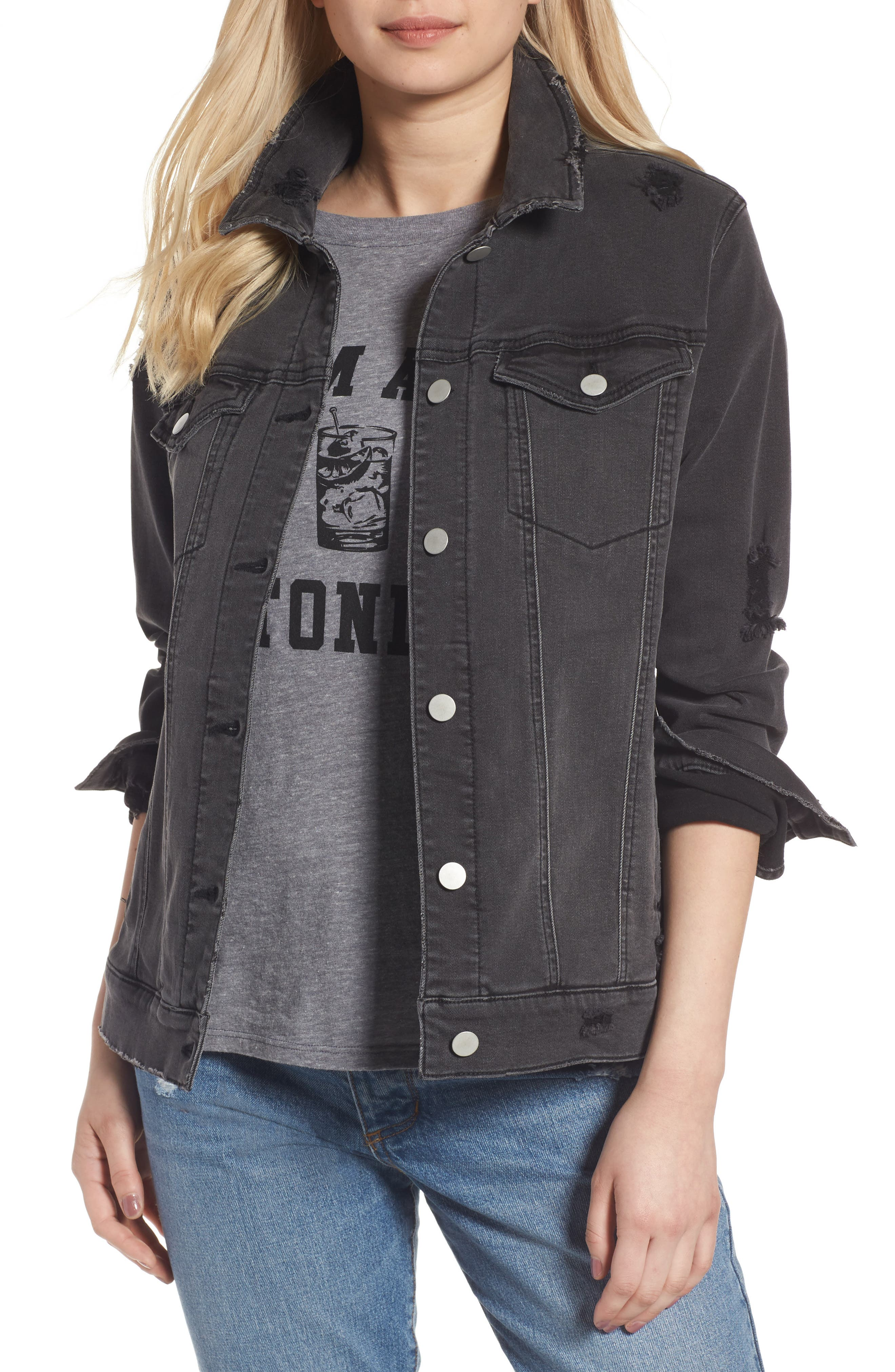 BP. Ripped Denim Trucker Jacket