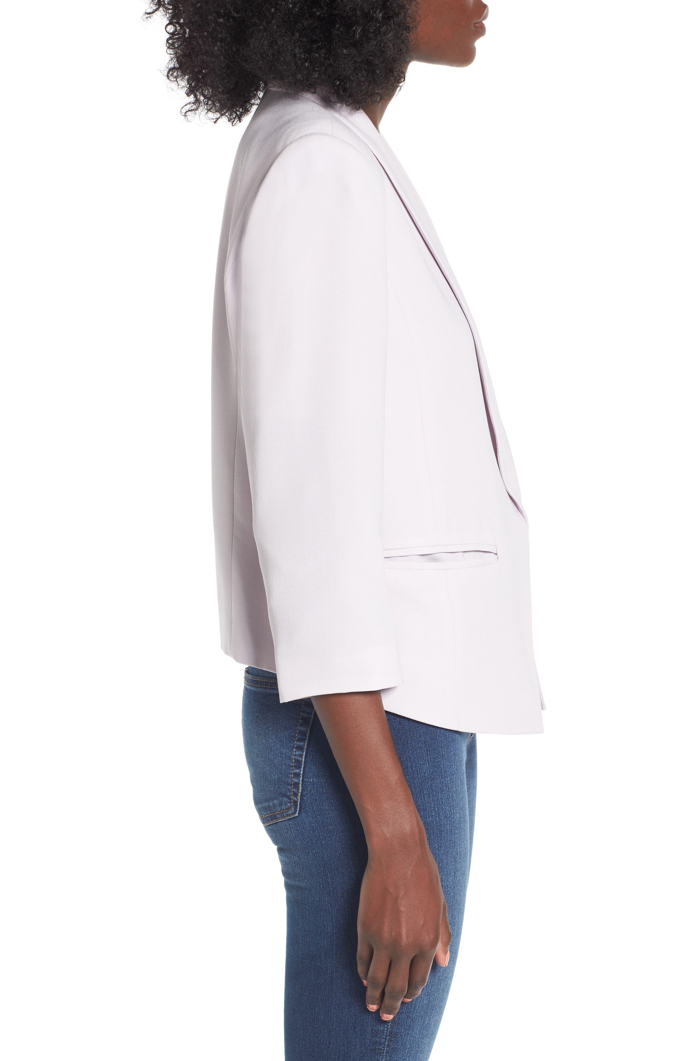 Alternate Image 3  - Mural 'Curve' Open Front Shawl Collar Blazer