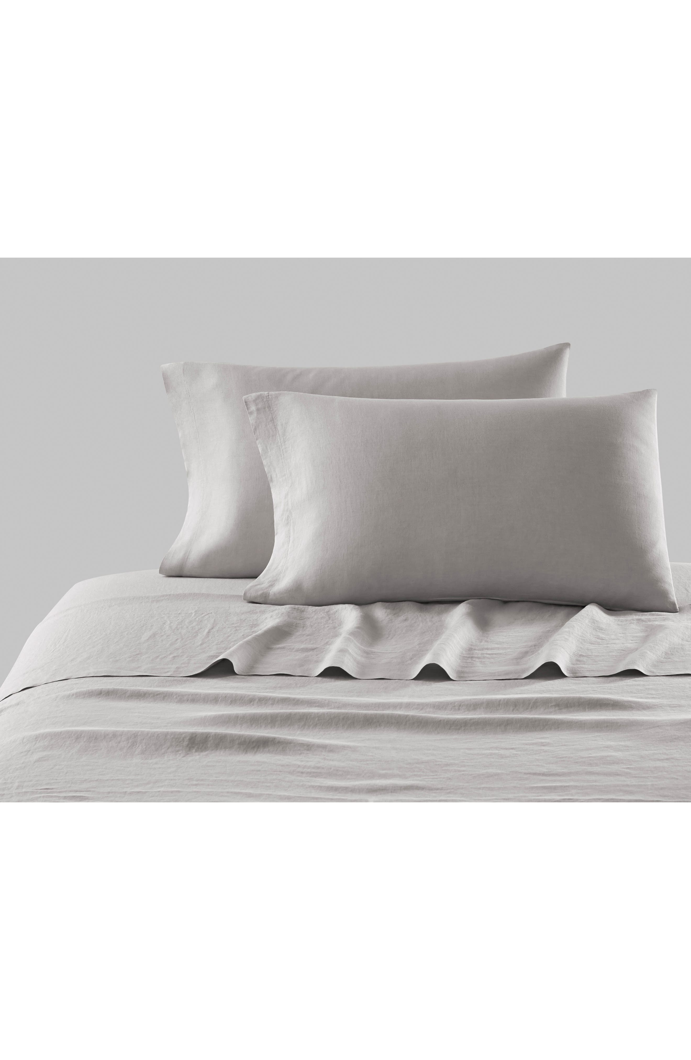 Alternate Image 2  - KASSATEX Lino Linen 300 Thread Count Pillowcase