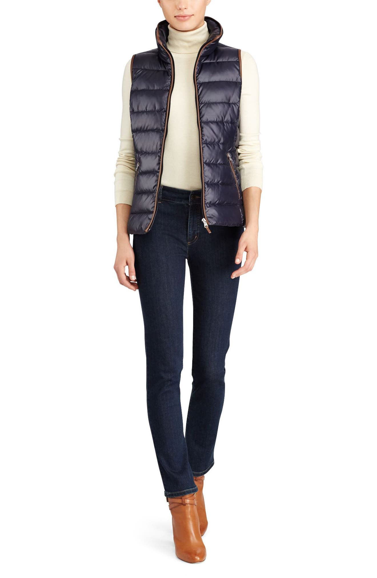 Alternate Image 2  - Lauren Ralph Lauren Quilted Down Vest