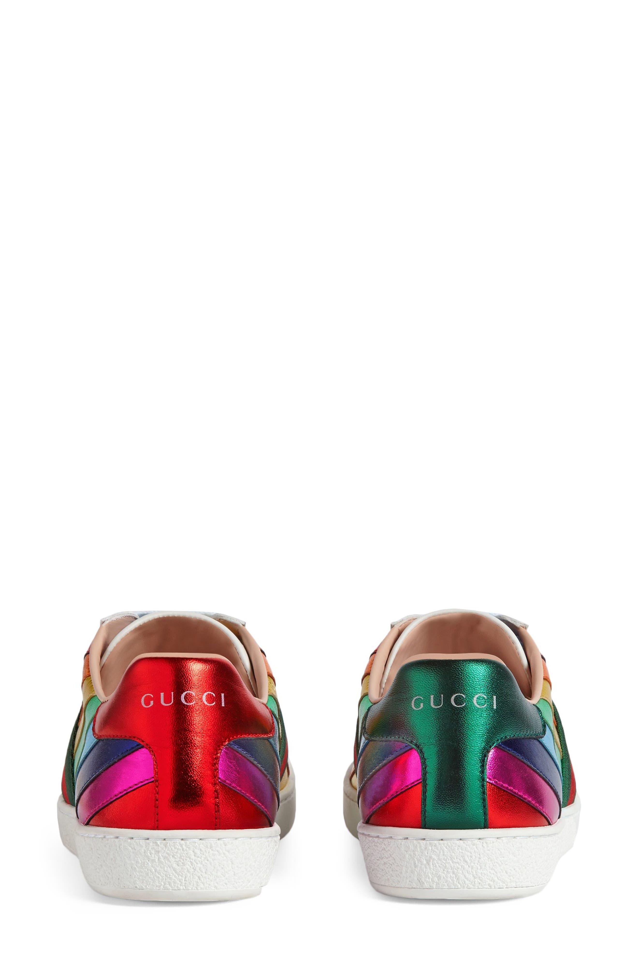 Alternate Image 4  - Gucci New Ace Rainbow Sneaker (Women)