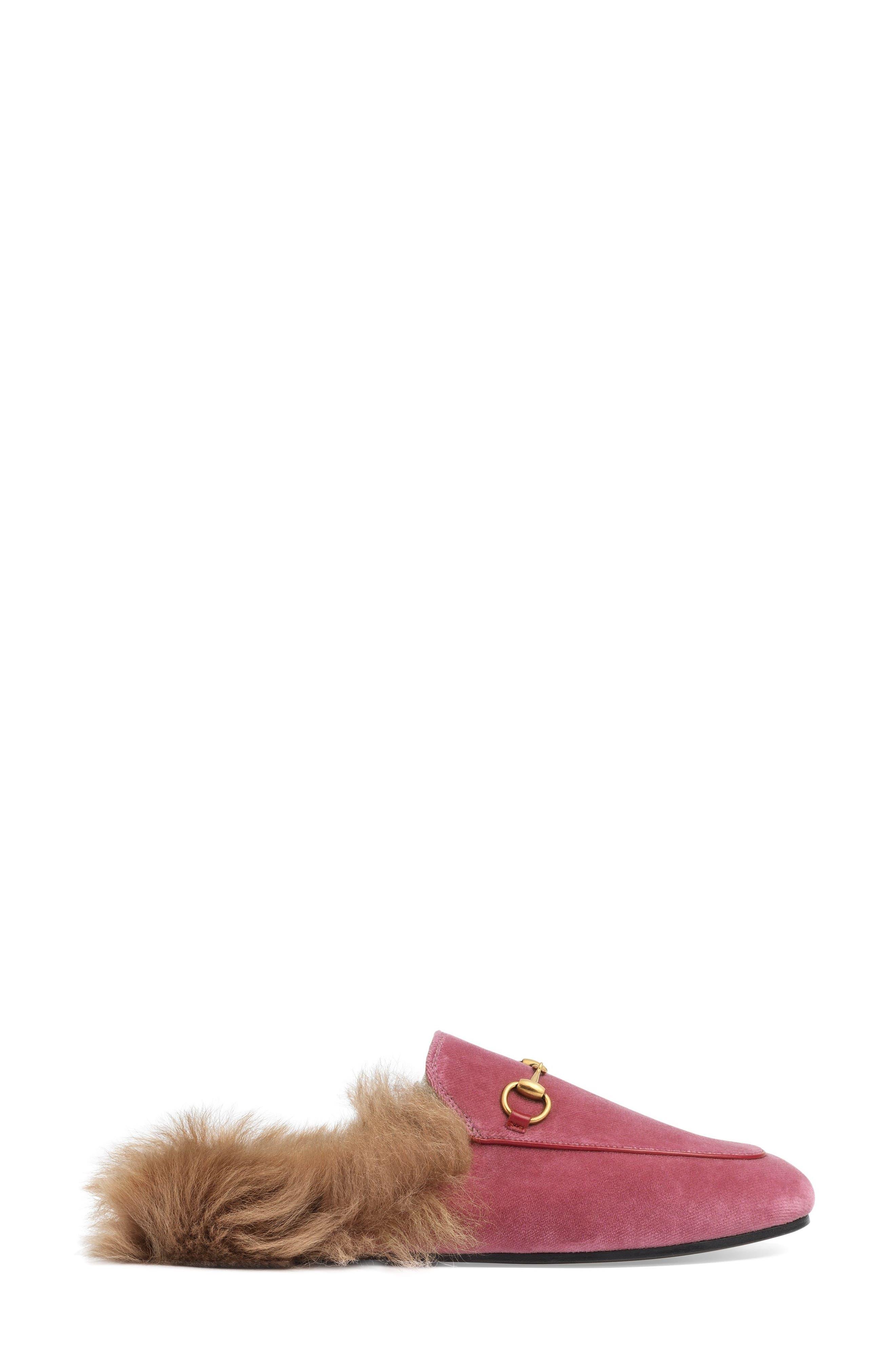 Gucci 'Princetown' Genuine Shearling Mule Loafer (Women)
