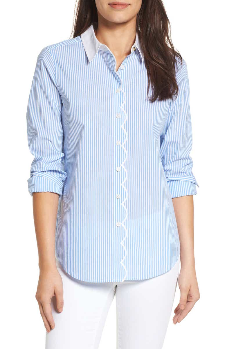 Cute striped cotton shirt