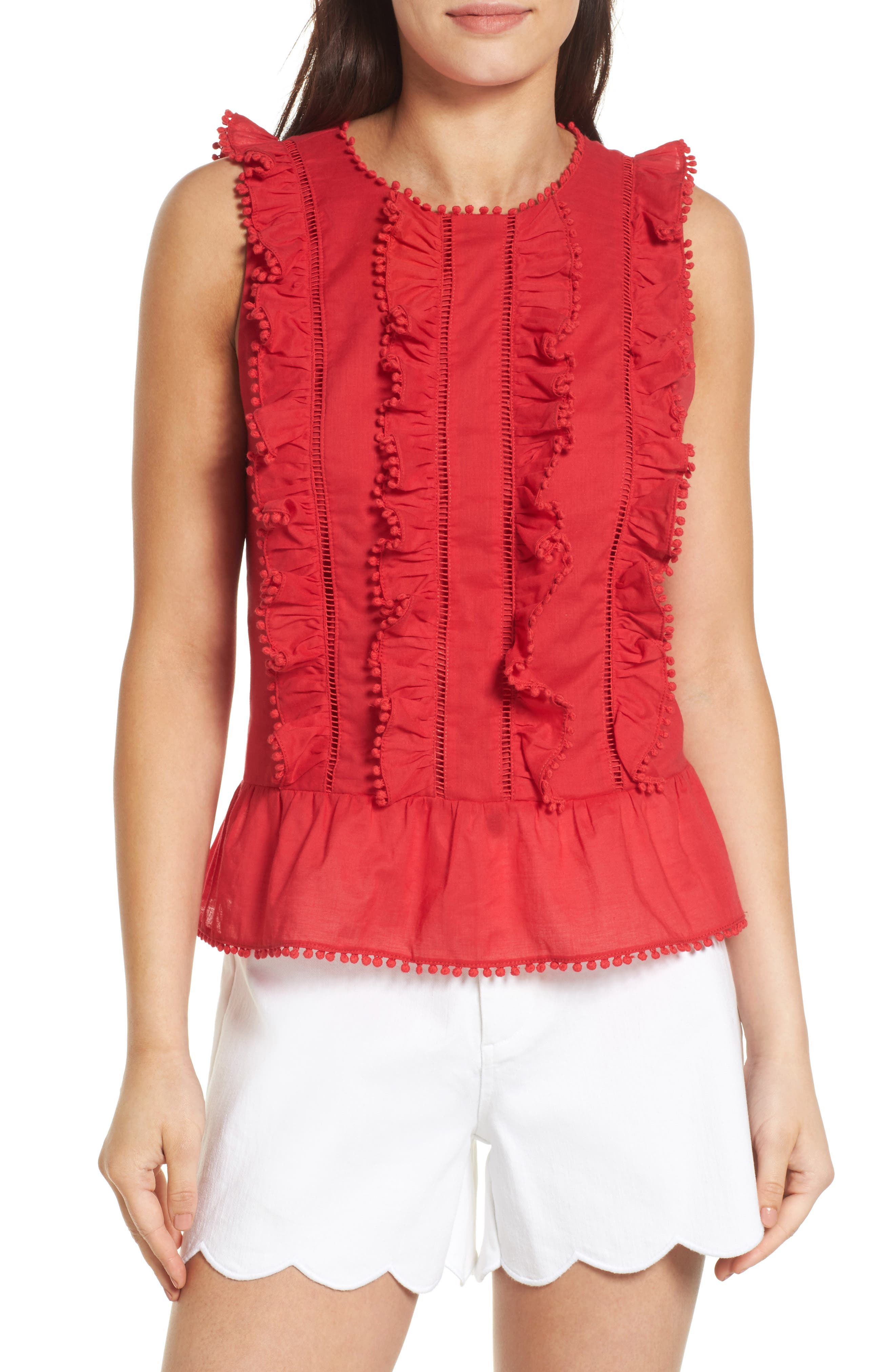 Draper James Rosie Ruffle Top (Nordstrom Exclusive)