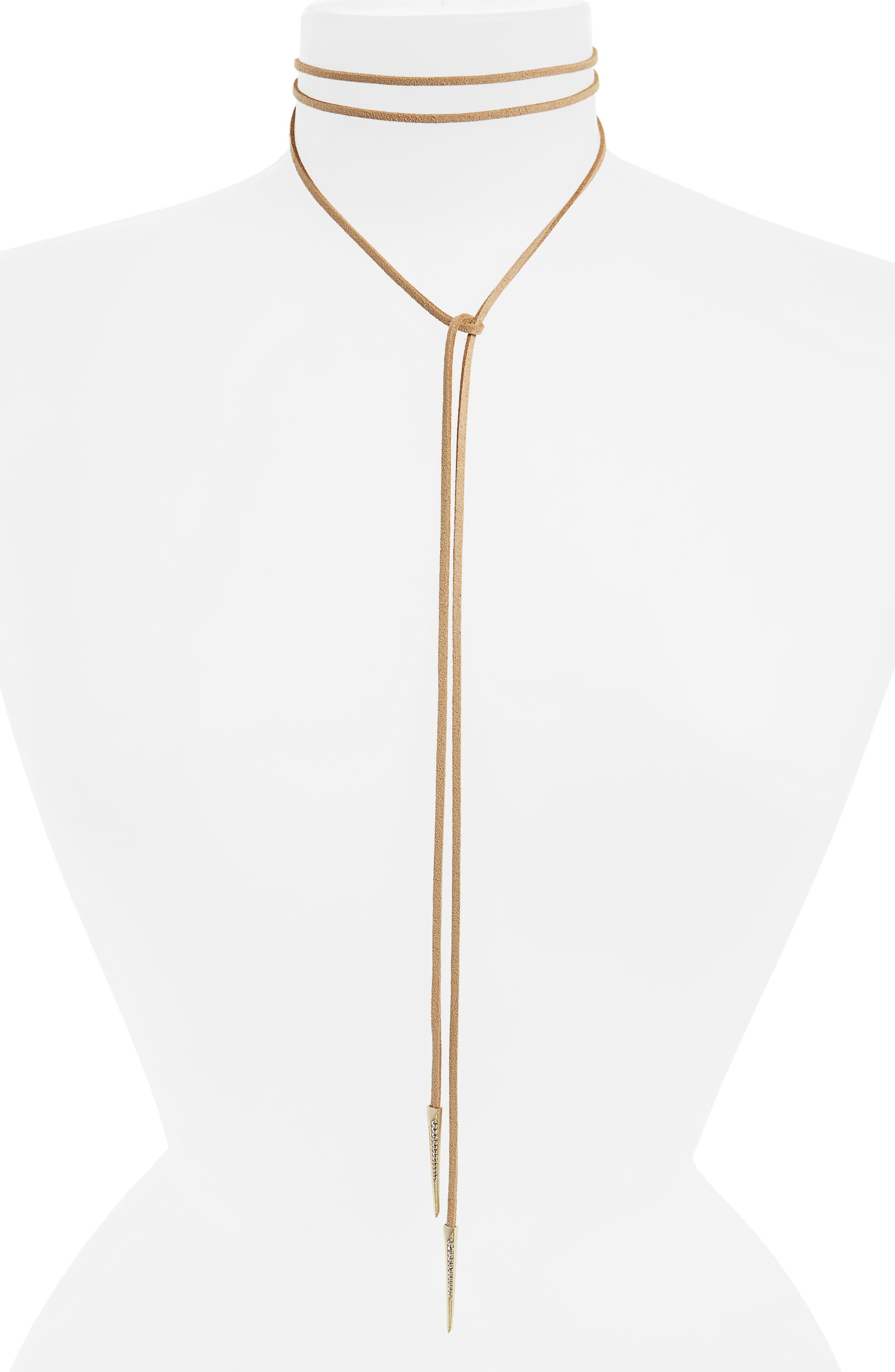 Kendra Scott Pierce Bolo Wrap Necklace