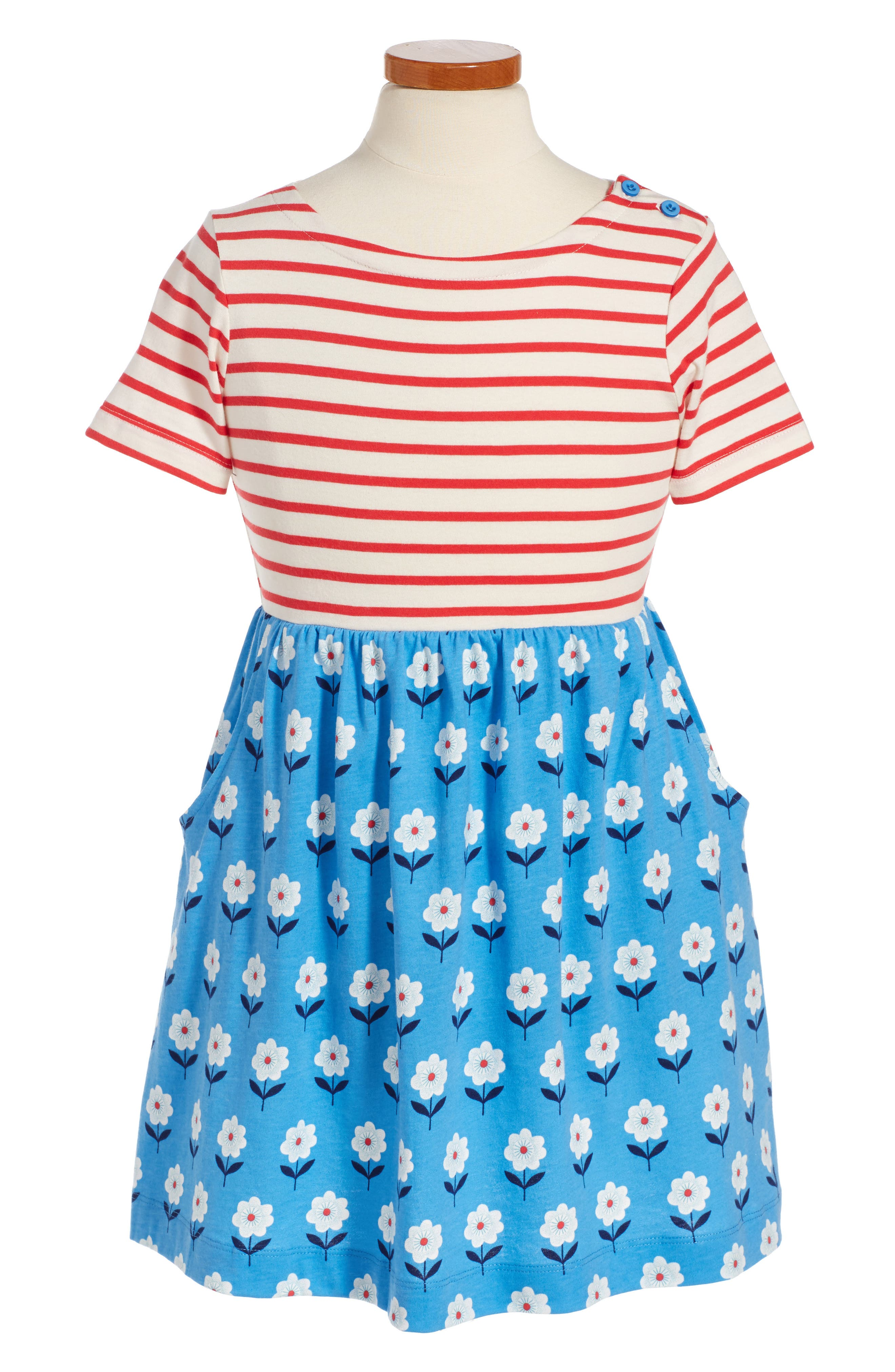 Mini Boden Mixed Print Dress (Toddler Girls, Little Girls & Big Girls)