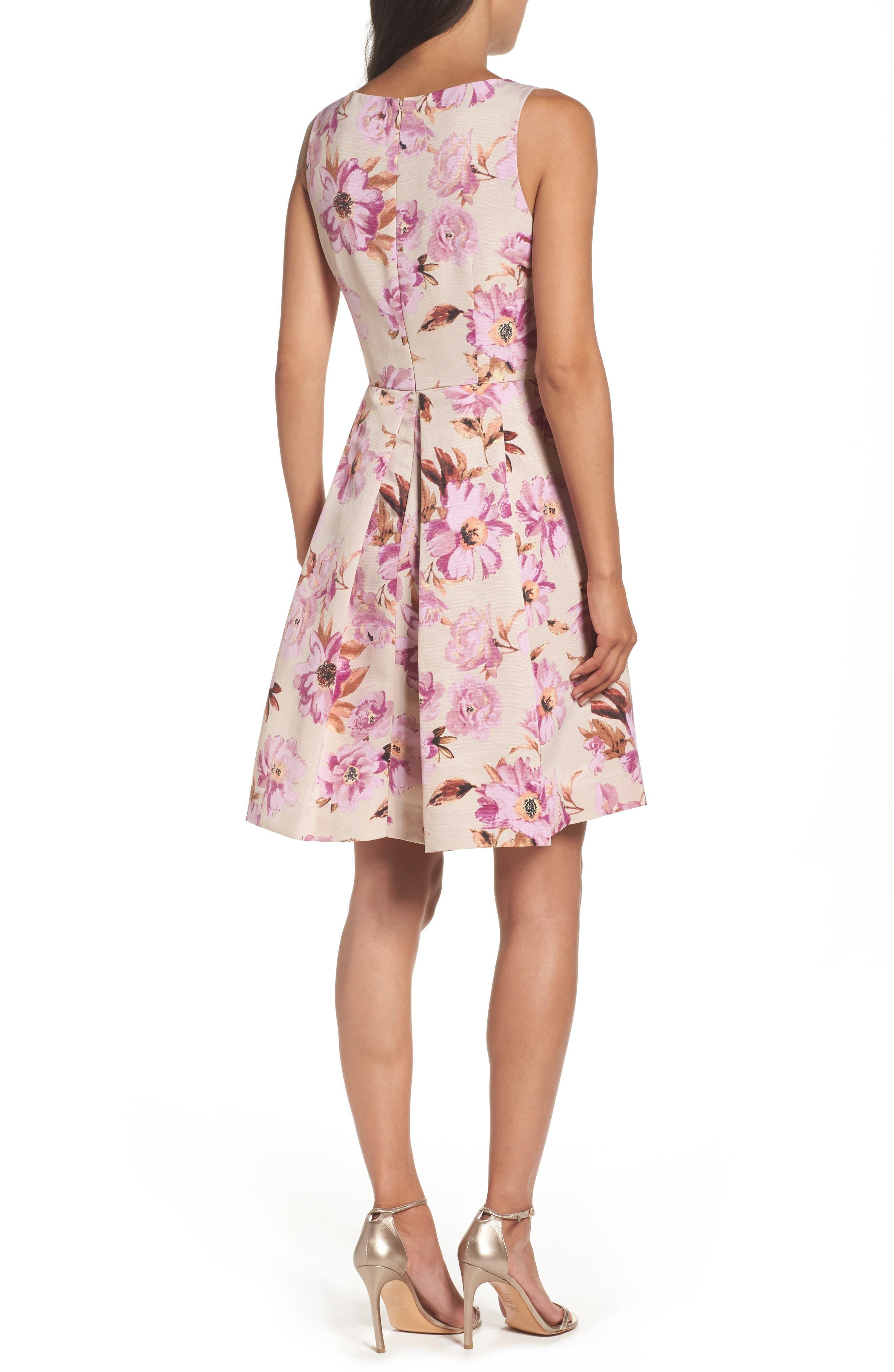 Alternate Image 2  - Taylor Dresses Fit & Flare Dress
