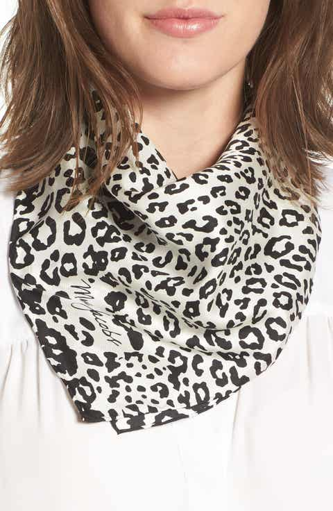 MARC JACOBS Leopard Print Silk Scarf