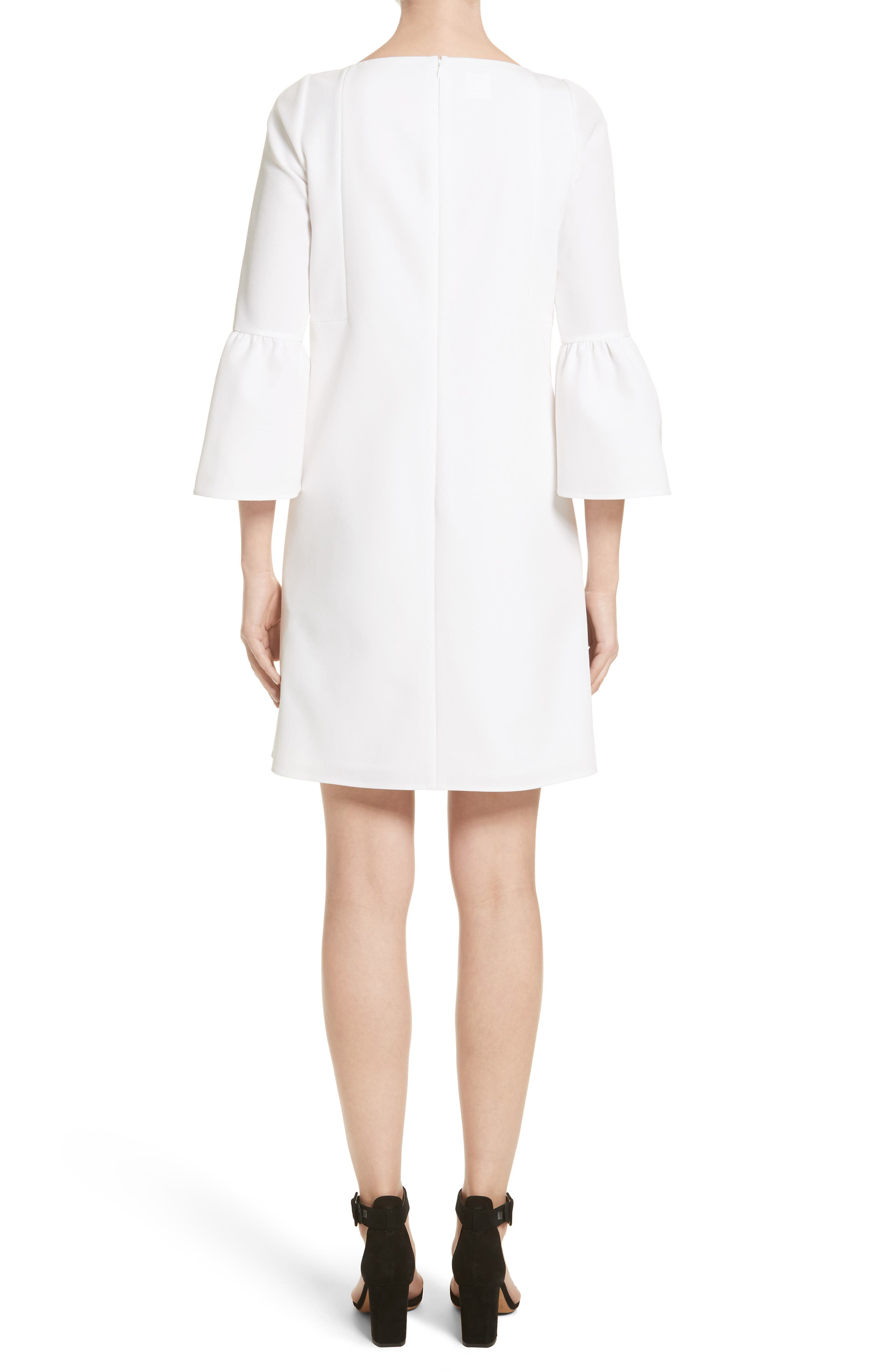 Alternate Image 2  - Lafayette 148 New York Marisa Flounce Cuff Shift Dress (Nordstrom Exclusive)
