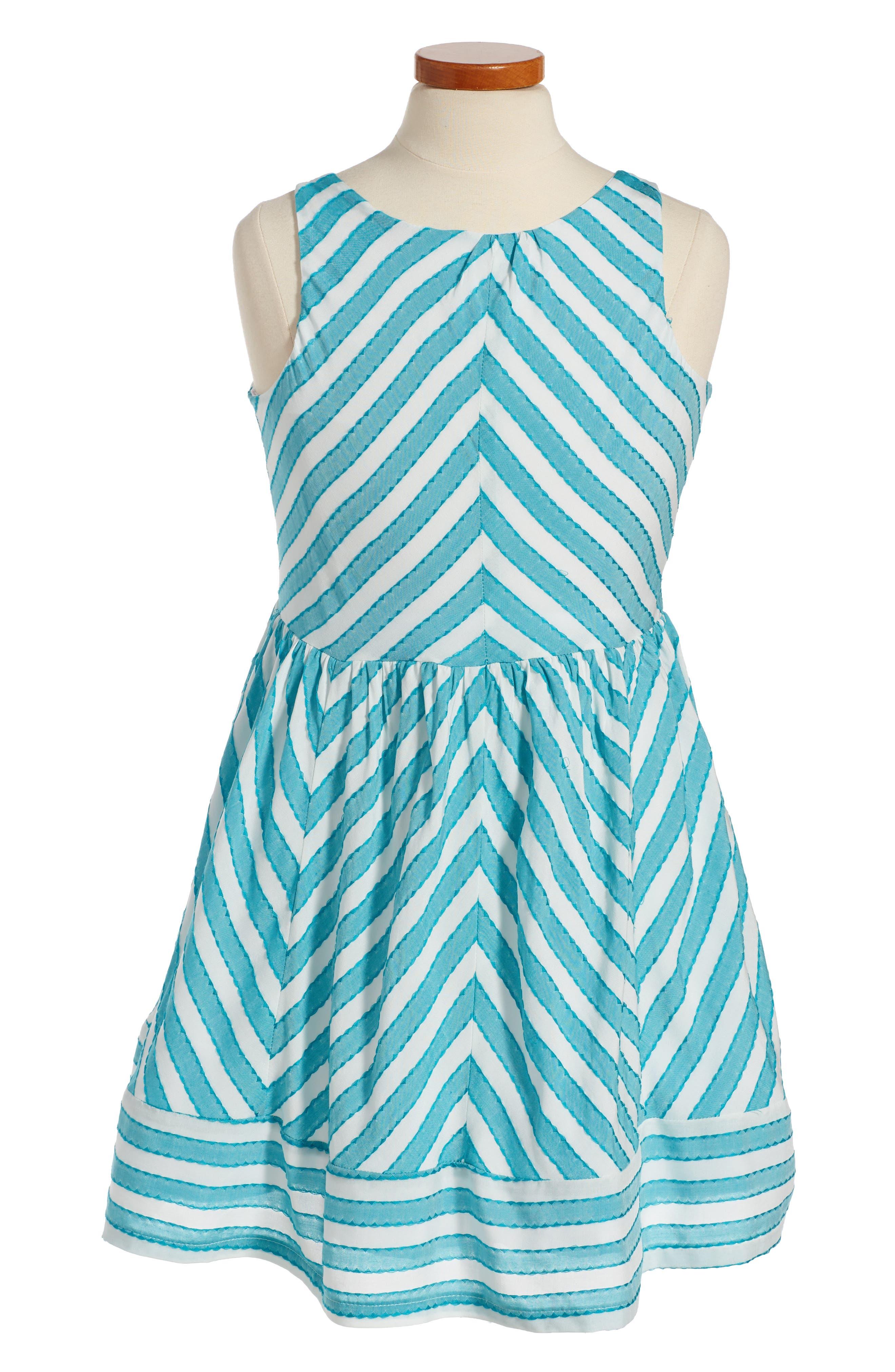 Fiveloaves Twofish Chevron Sleeveless Dress (Big Girls)