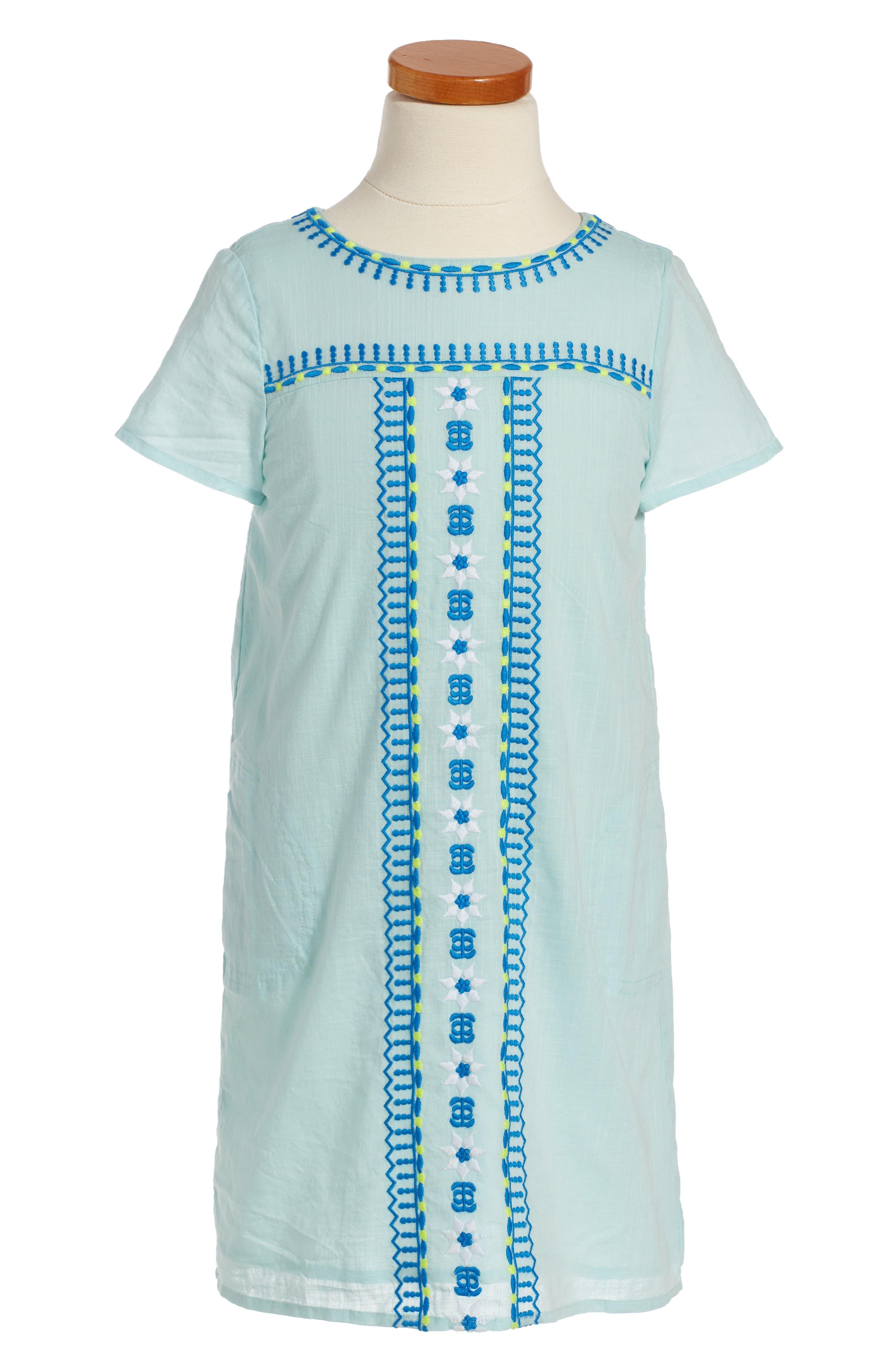 Vineyard Vines Embroidered Shift Dress (Toddler Girls, Little Girls & Big Girls)