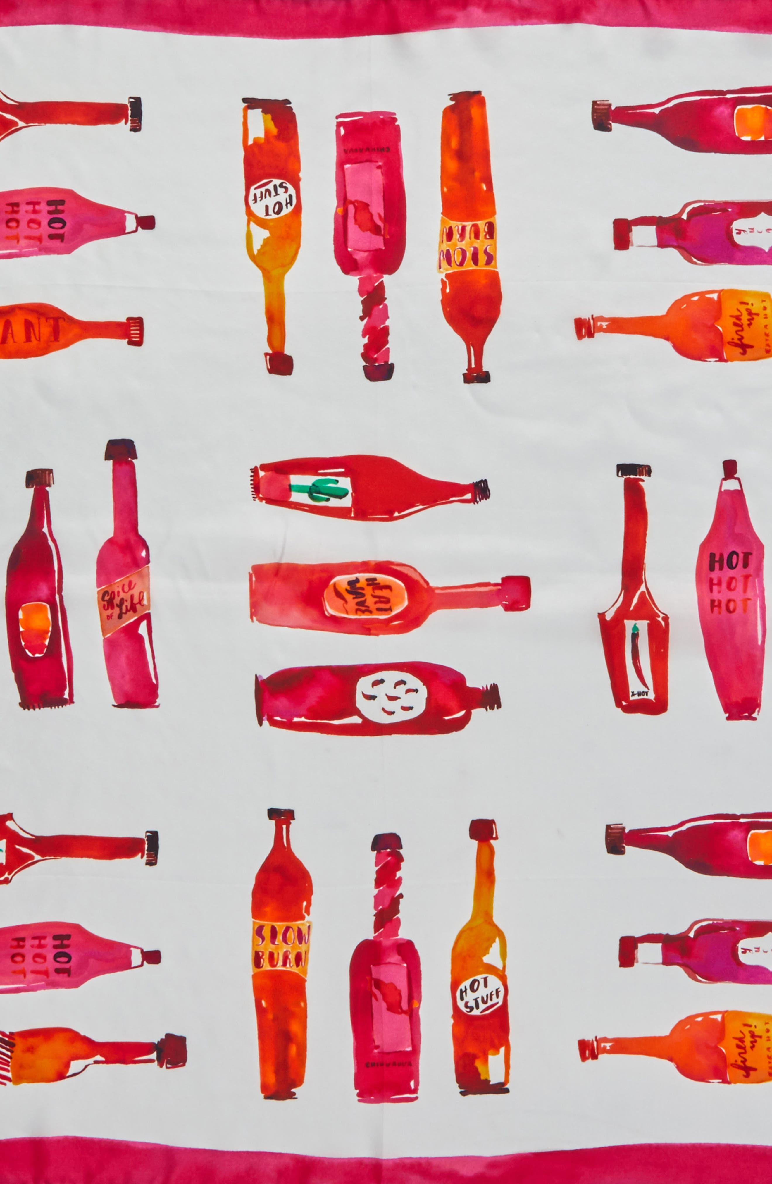 Alternate Image 4  - kate spade new york hot sauce square silk scarf