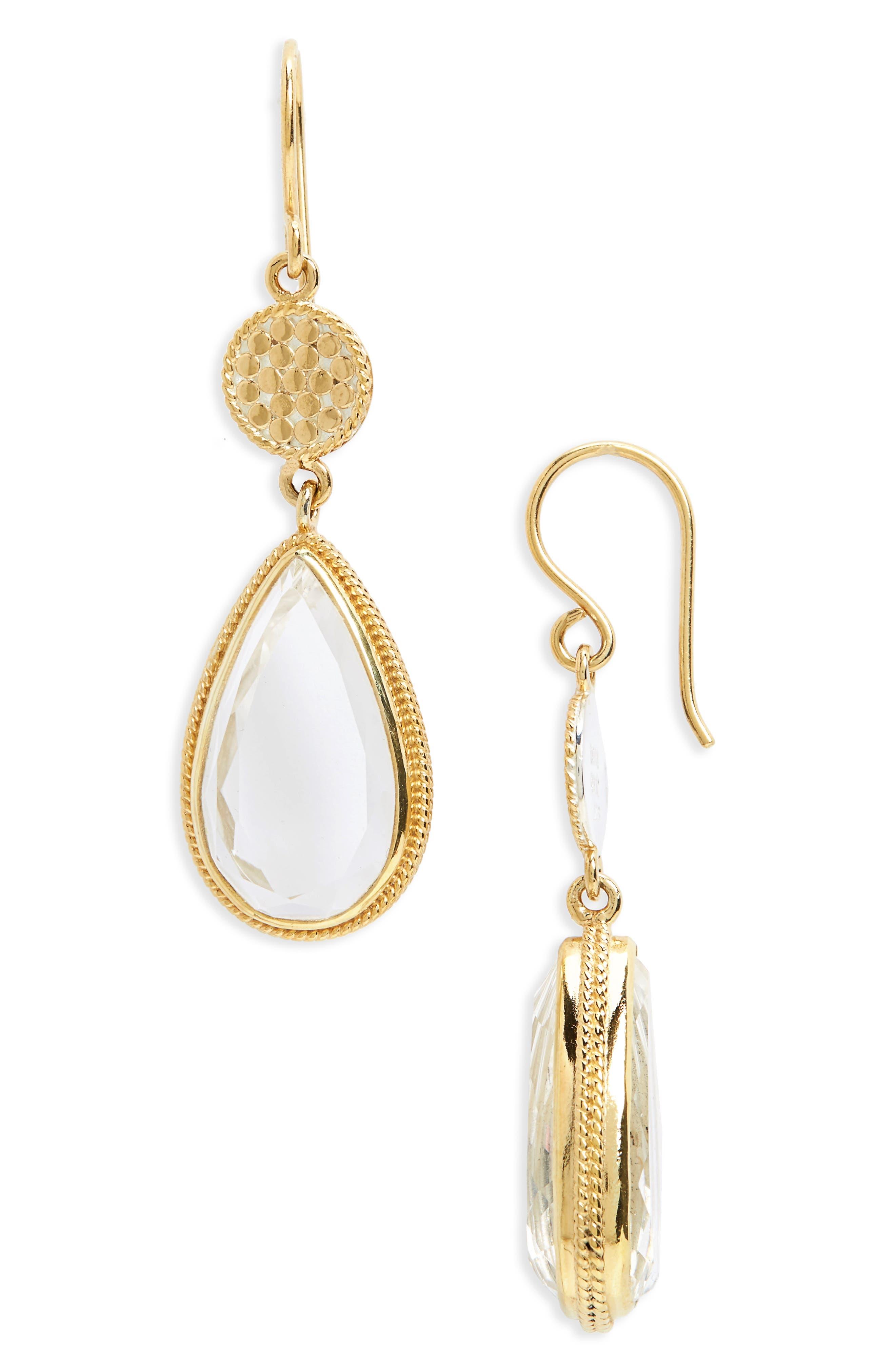 Anna Beck Crystal Quartz Double Drop Earrings