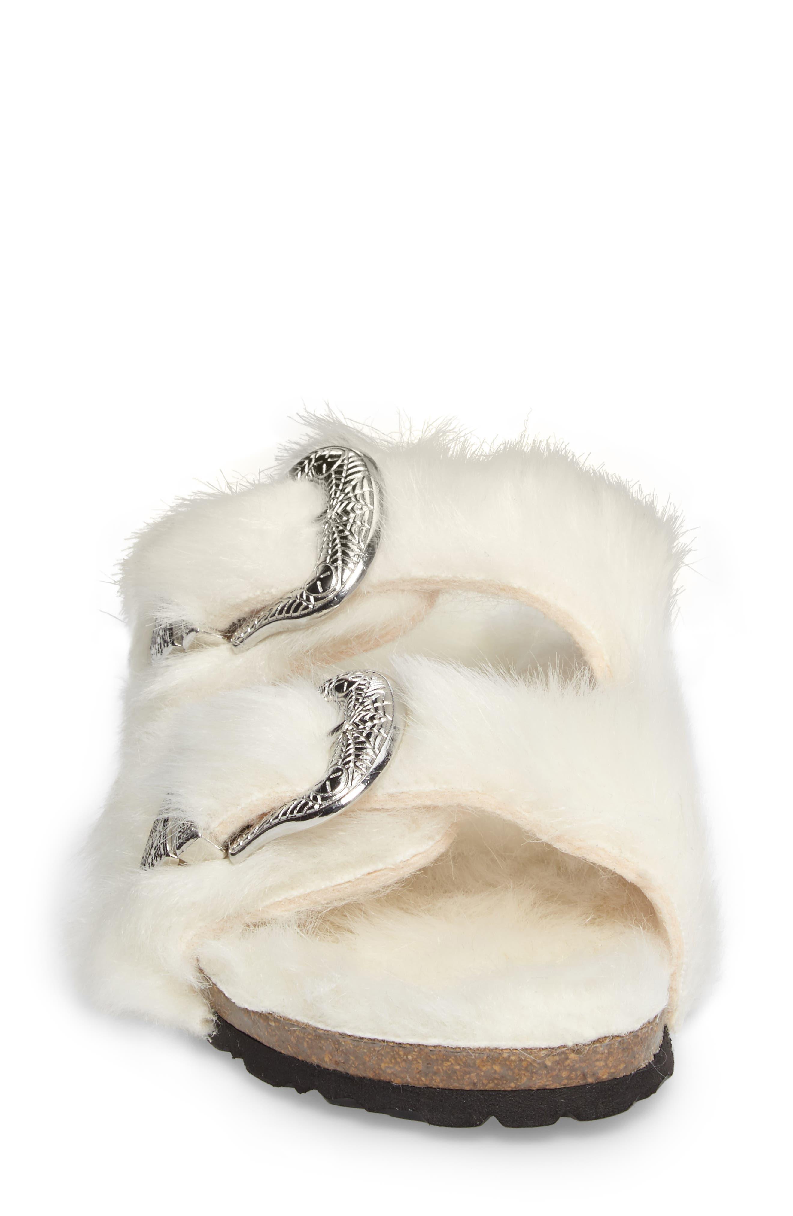 Alternate Image 4  - Topshop Falcon Faux Fur Slide Sandal (Women)