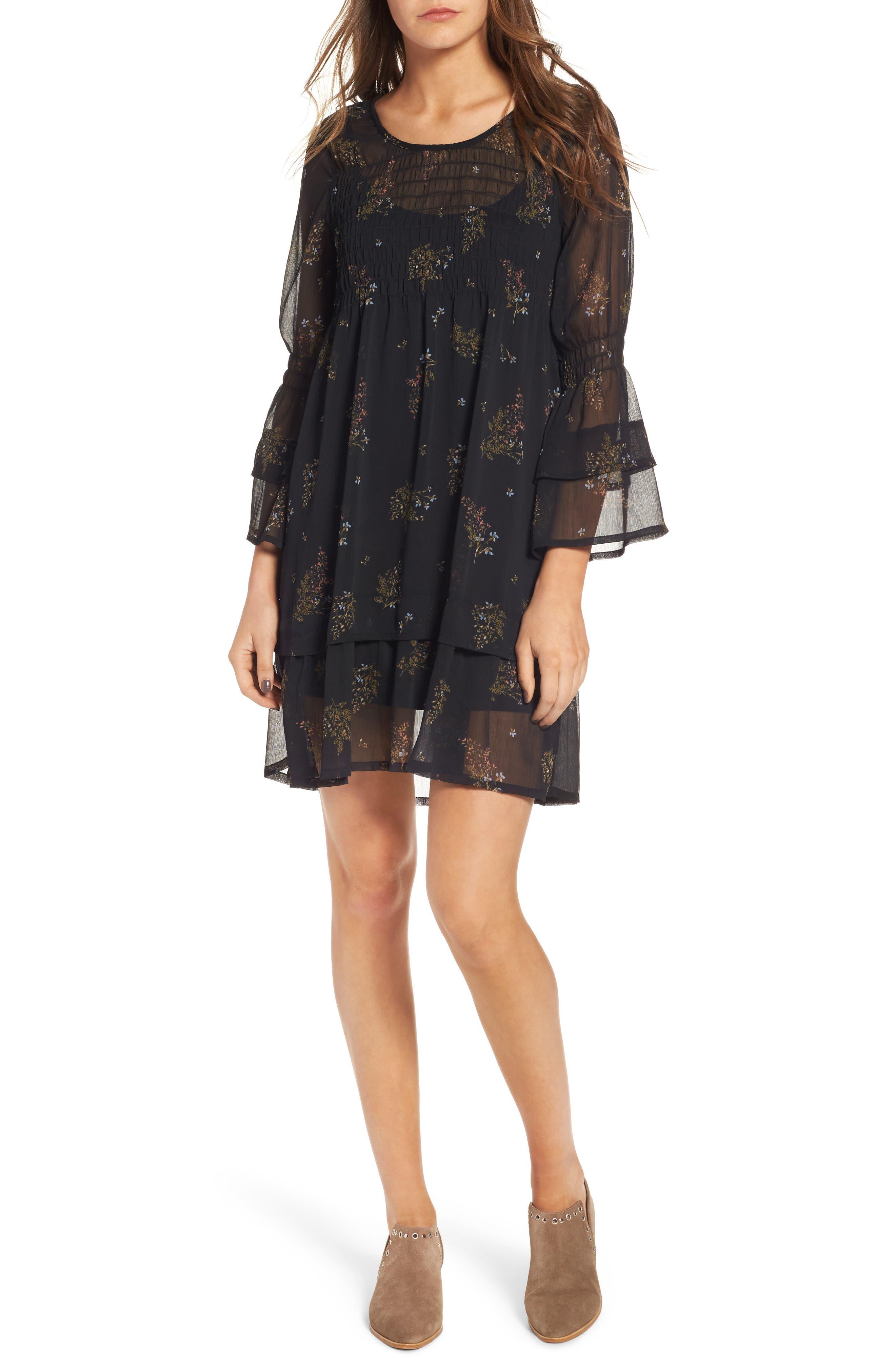 Alternate Image 1 Selected - O'Neill Susannah Bell Sleeve Dress